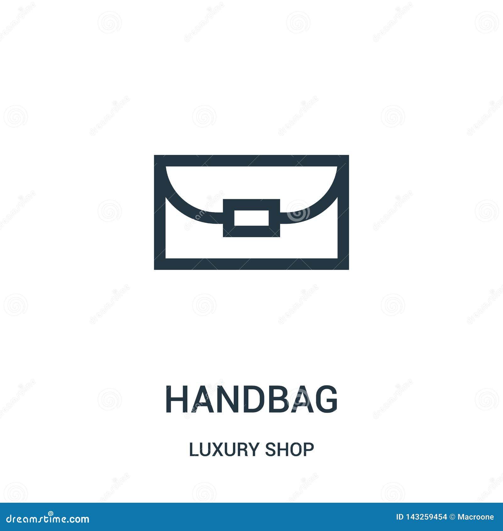 Vecteur d ic?ne de sac ? main de la collection de luxe de magasin Ligne mince illustration de vecteur d ic?ne d ensemble de sac ?