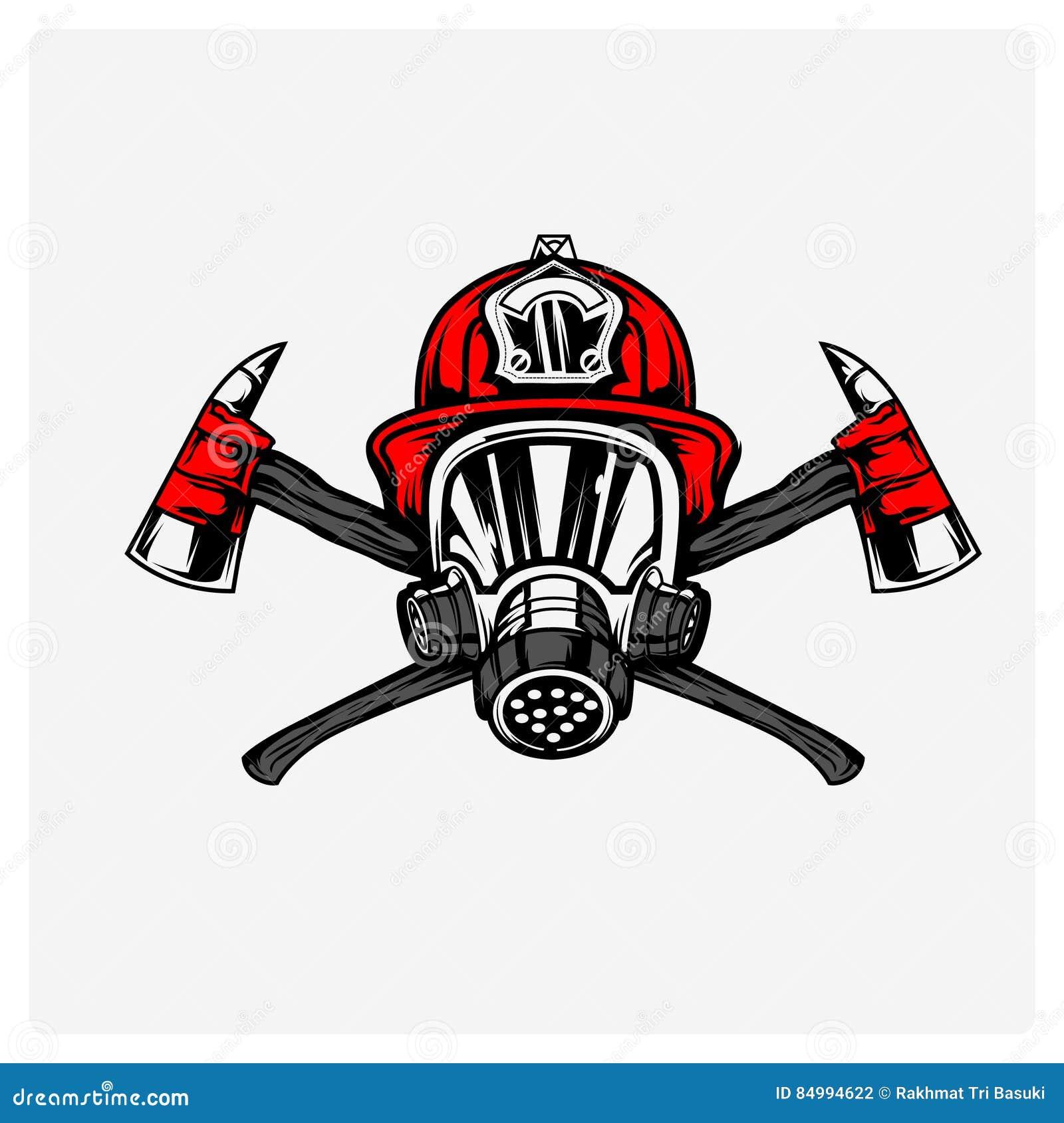 Vecteur d illustration de sapeur-pompier