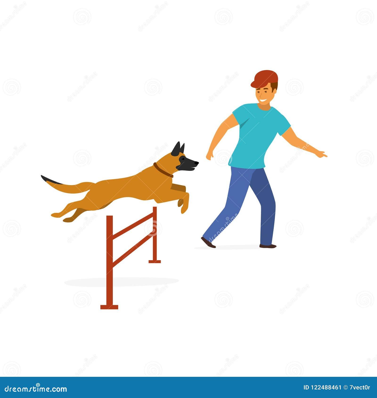 Vecteur d isolement par exercice d entraînement d agilité de chien