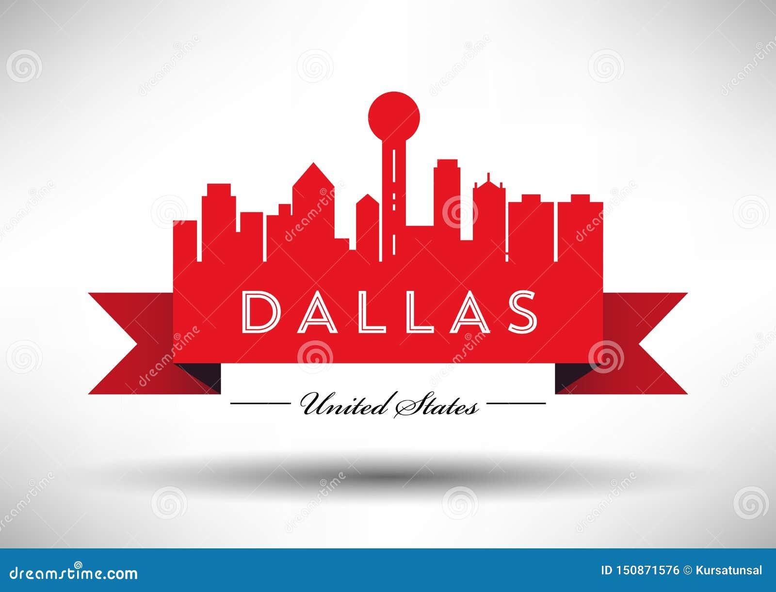 Vecteur Dallas City Skyline Design