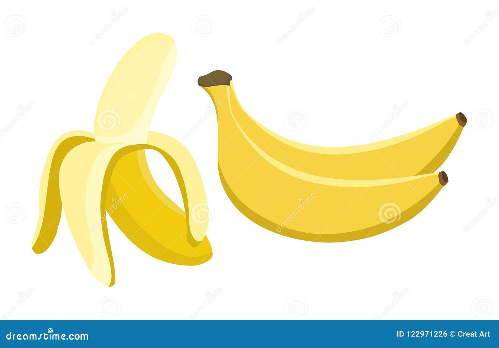 Vecteur de banane Illustration fraîche de banane