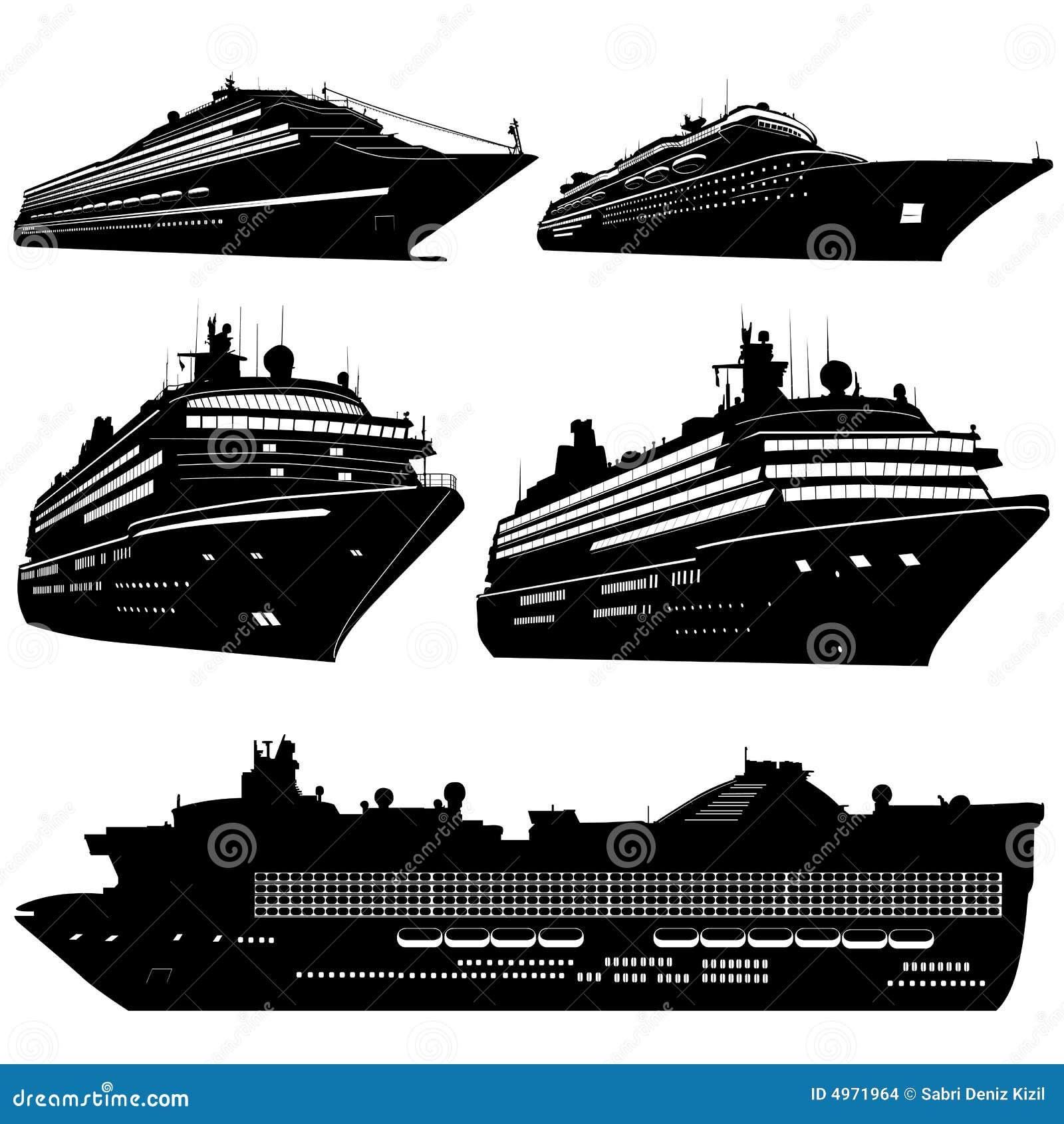 Vecteur de bateau de croisière