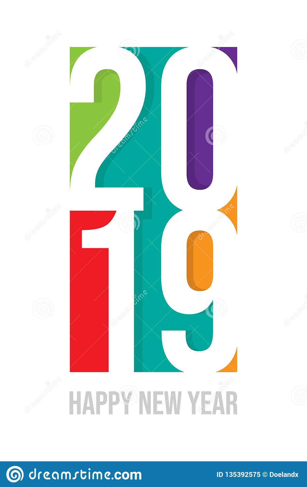 Vecteur de 2019 bonnes années, carte de bonne année pour 2019