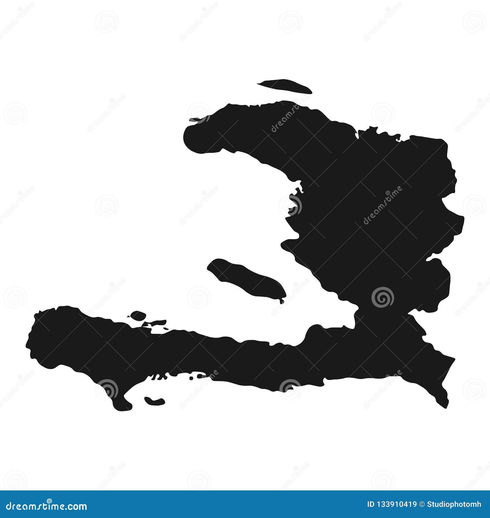 Vecteur de carte du Haïti fond de pays d isolement par illustration