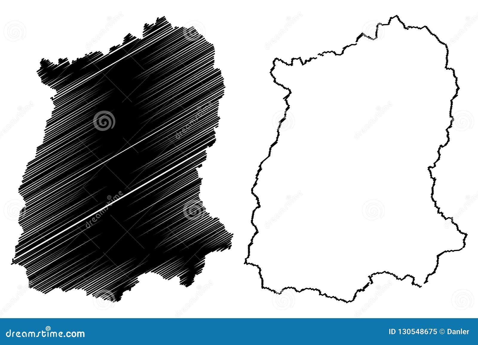 Carte Inde Sikkim.Vecteur De Carte Du Sikkim Illustration De Vecteur Illustration Du