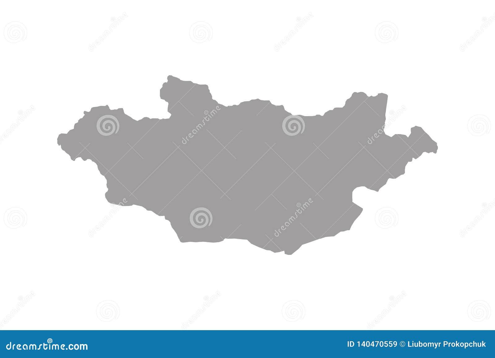 Vecteur de carte de la Mongolie