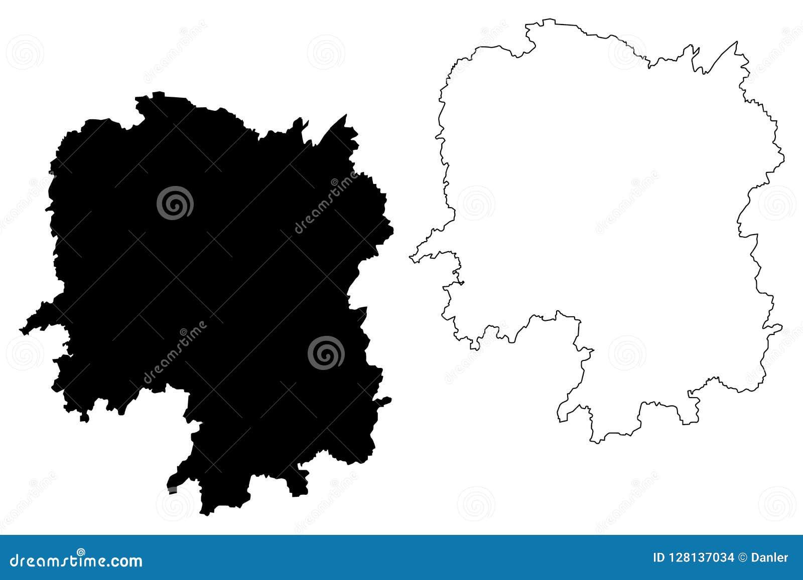 Carte Chine Hunan.Vecteur De Carte De Province De Hunan Illustration De Vecteur