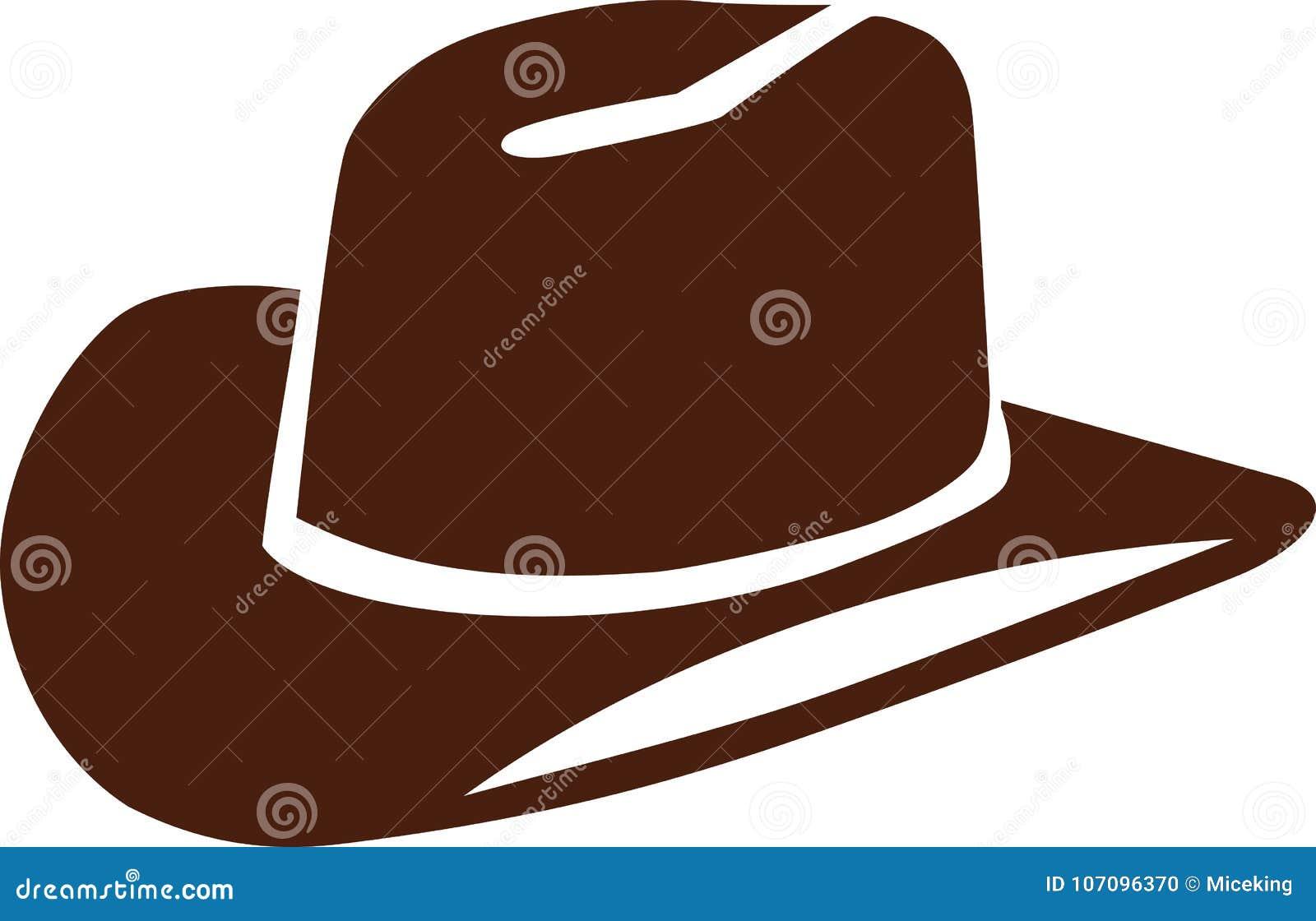 Vecteur de chapeau de cowboy