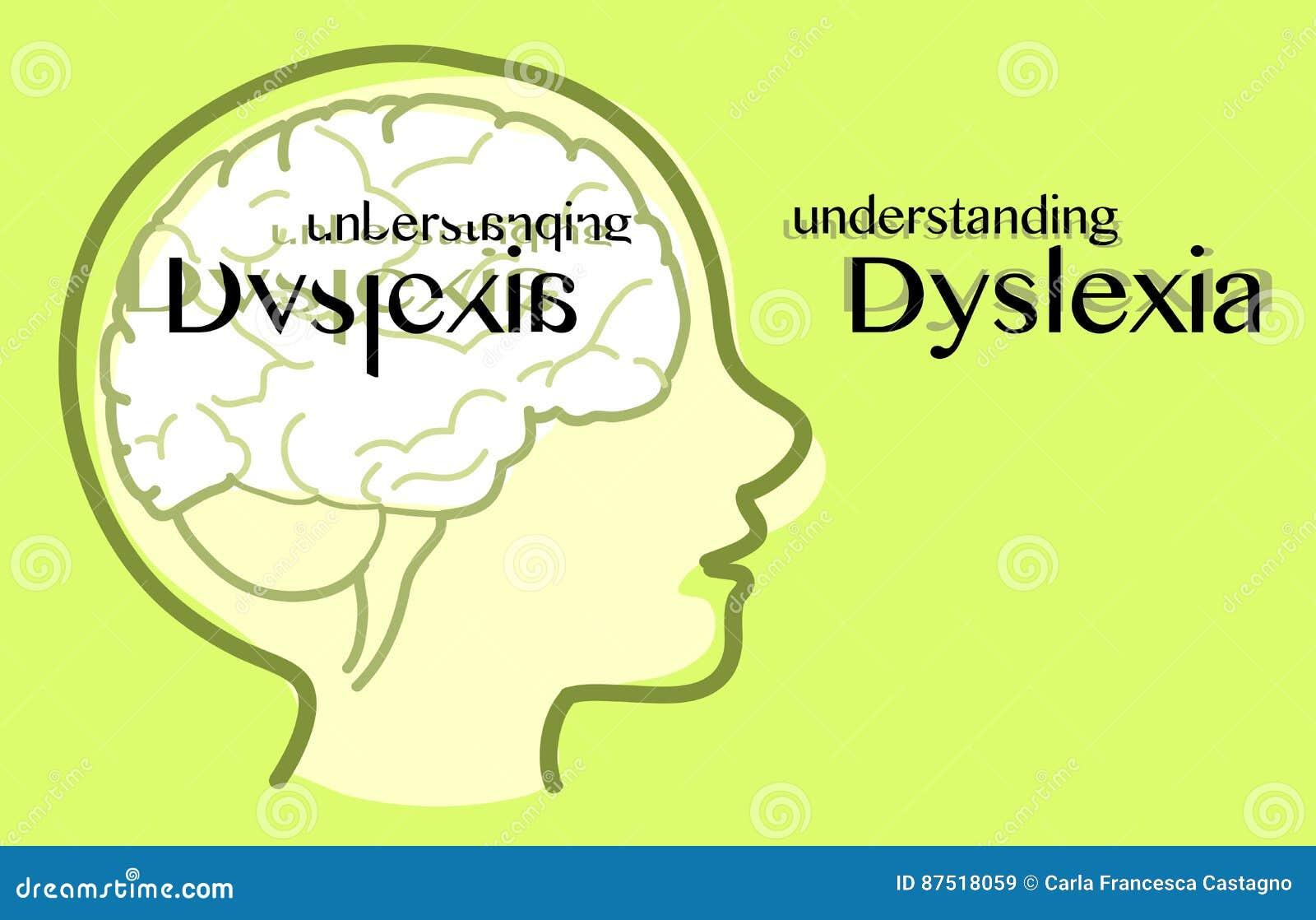 Vecteur De Compréhension De Dyslexie Illustration de Vecteur ...
