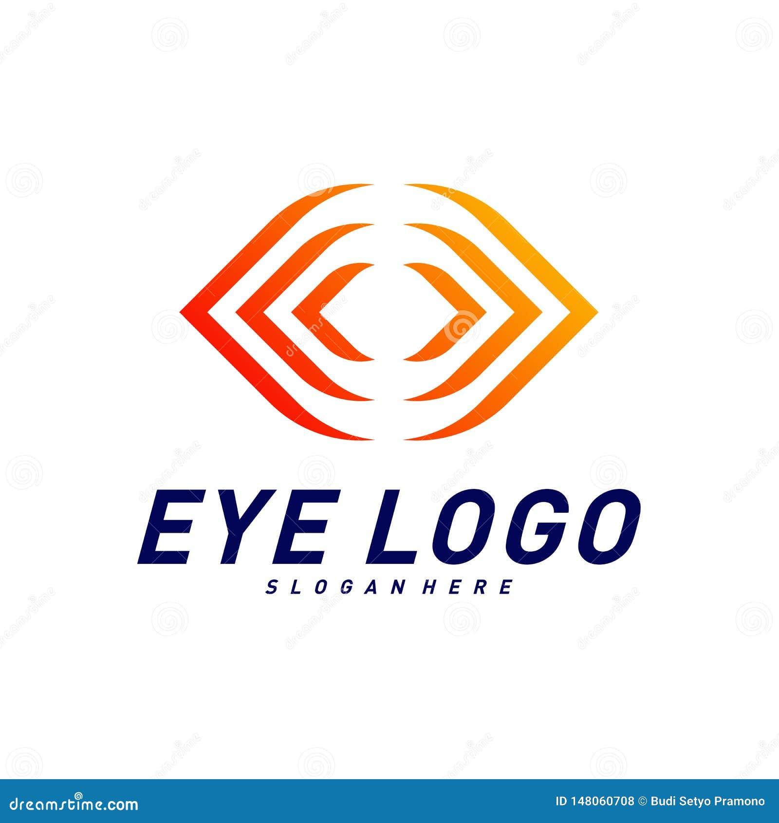 Vecteur de concept de construction de logo d oeil, calibre de logo d oeil, symbole d ic?ne