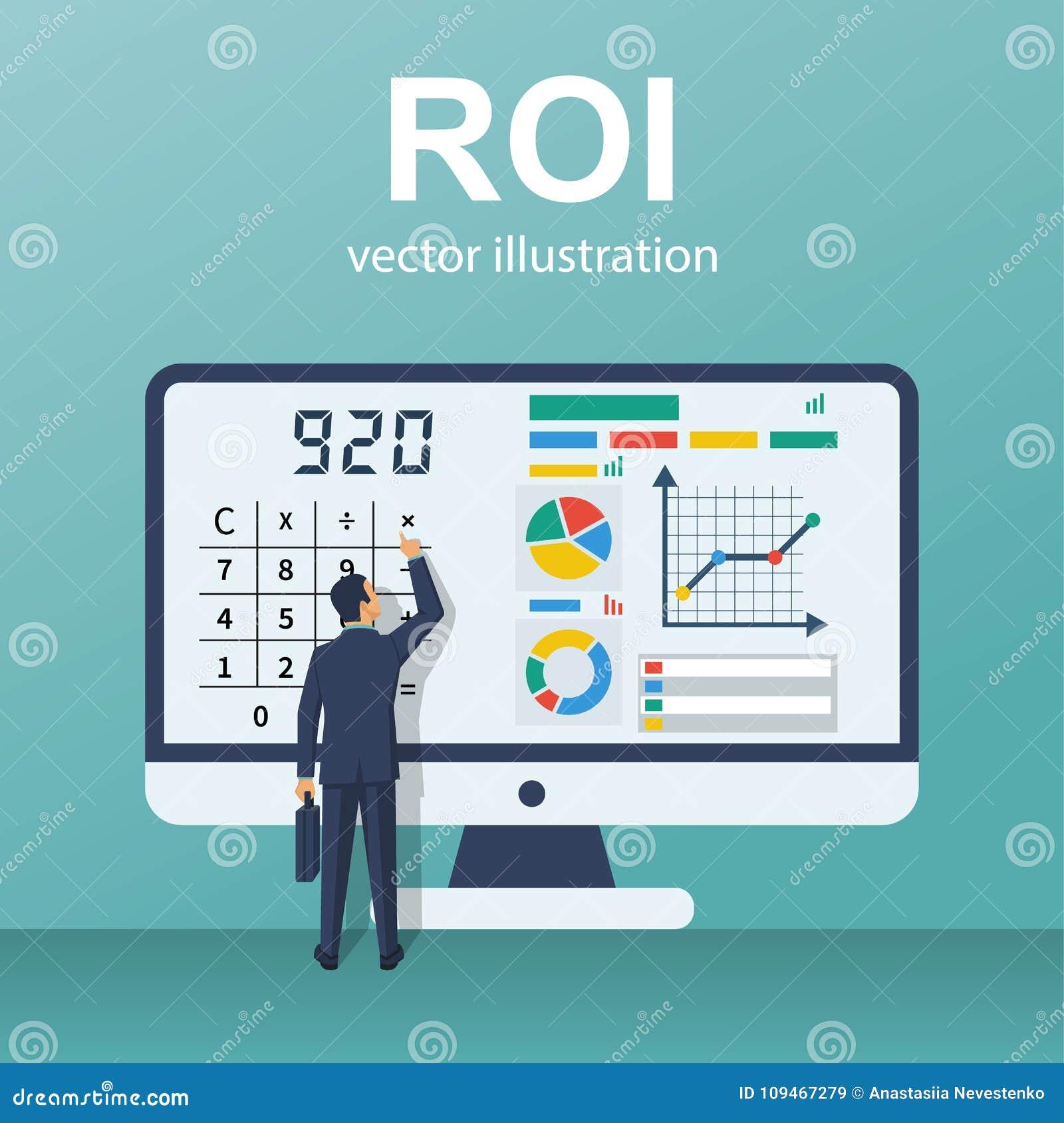 Vecteur de concept de ROI