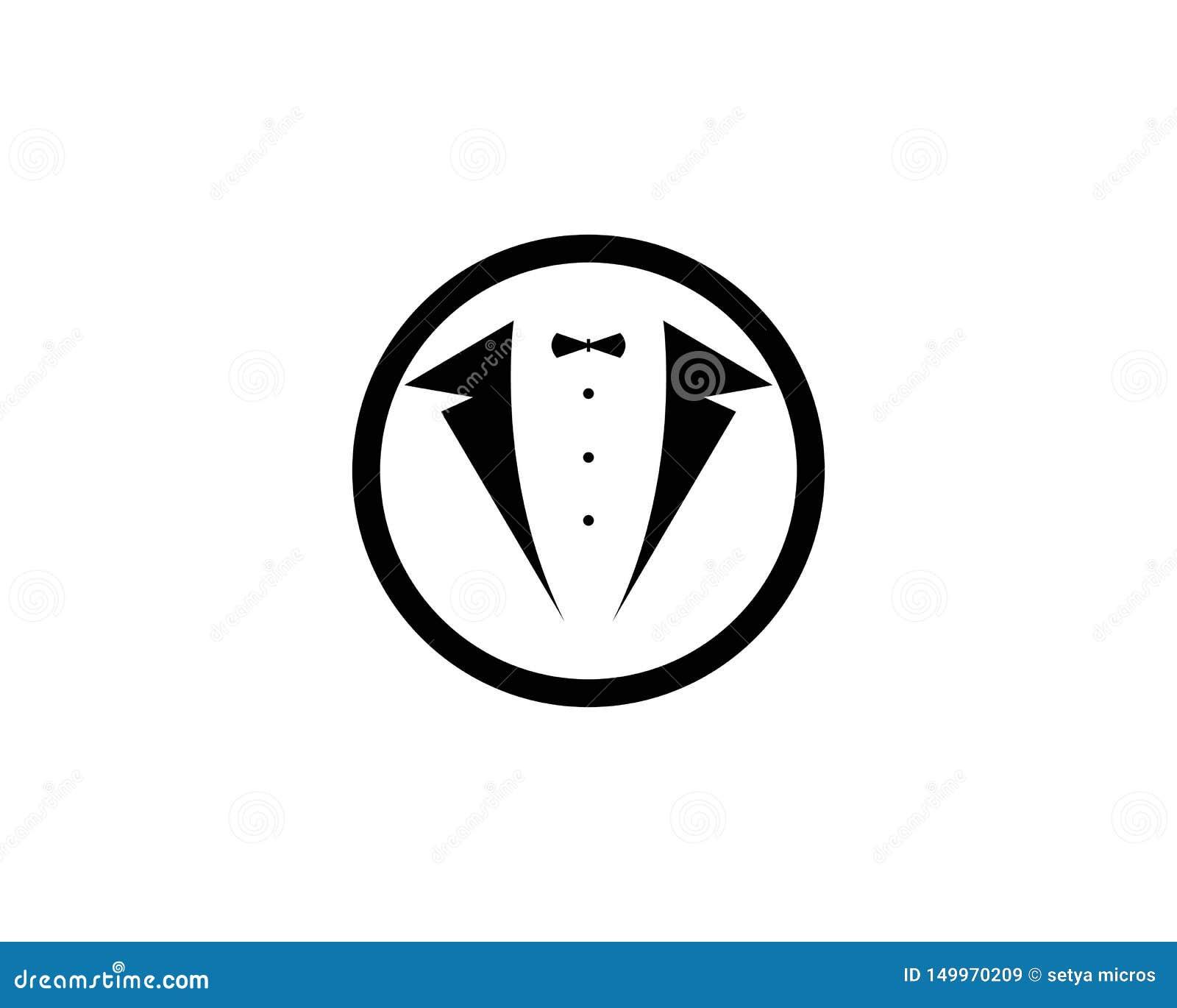 Vecteur de conception d illustration d icône de vecteur de calibre de logo de smoking