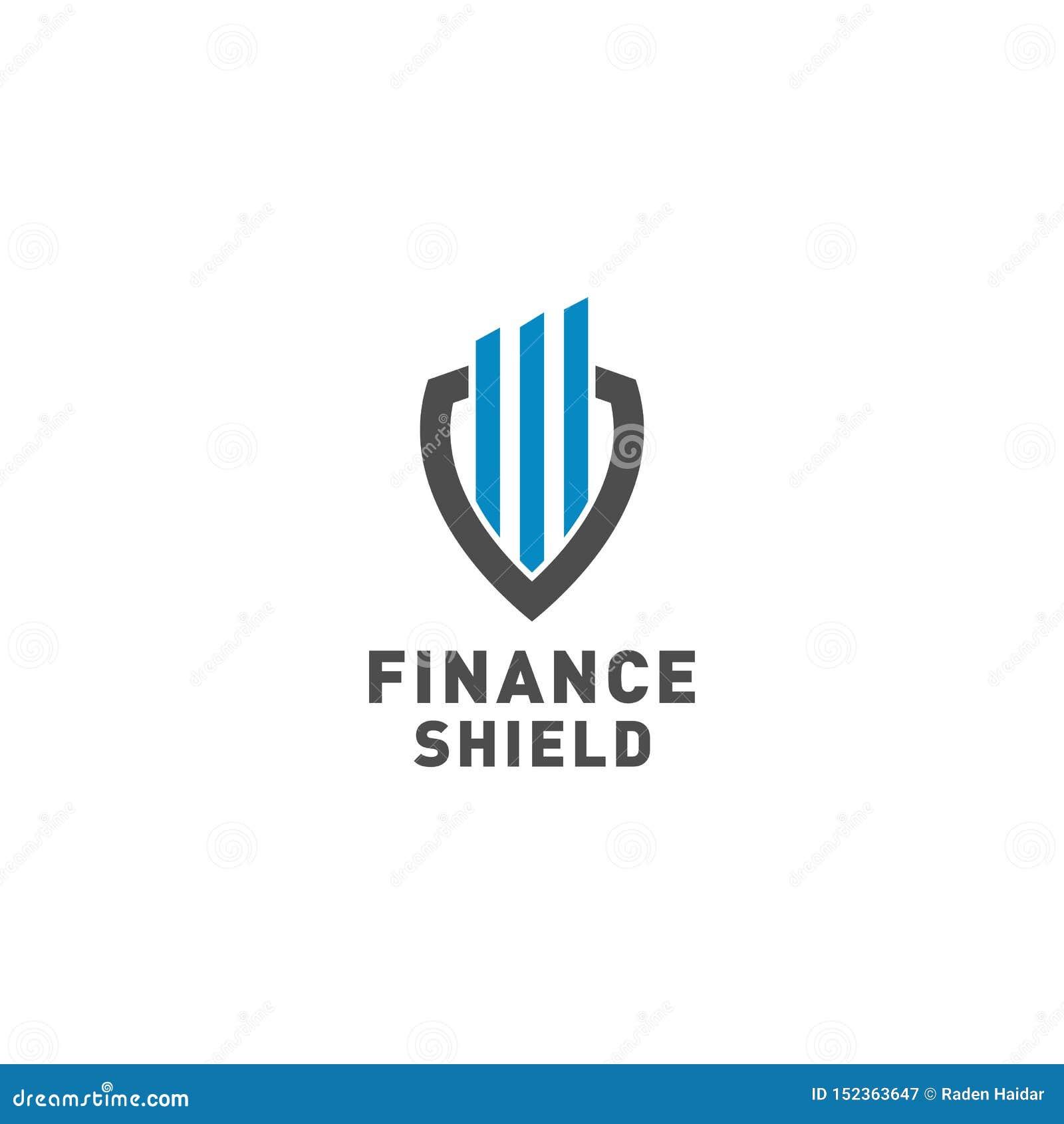 Vecteur de conception de logo de bouclier de finances
