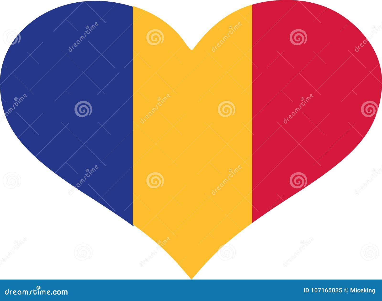 Vecteur de drapeau de la Roumanie