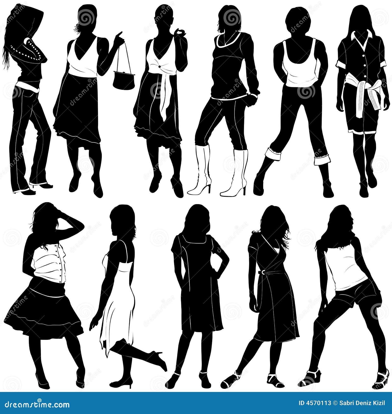 Vecteur de femmes de mode