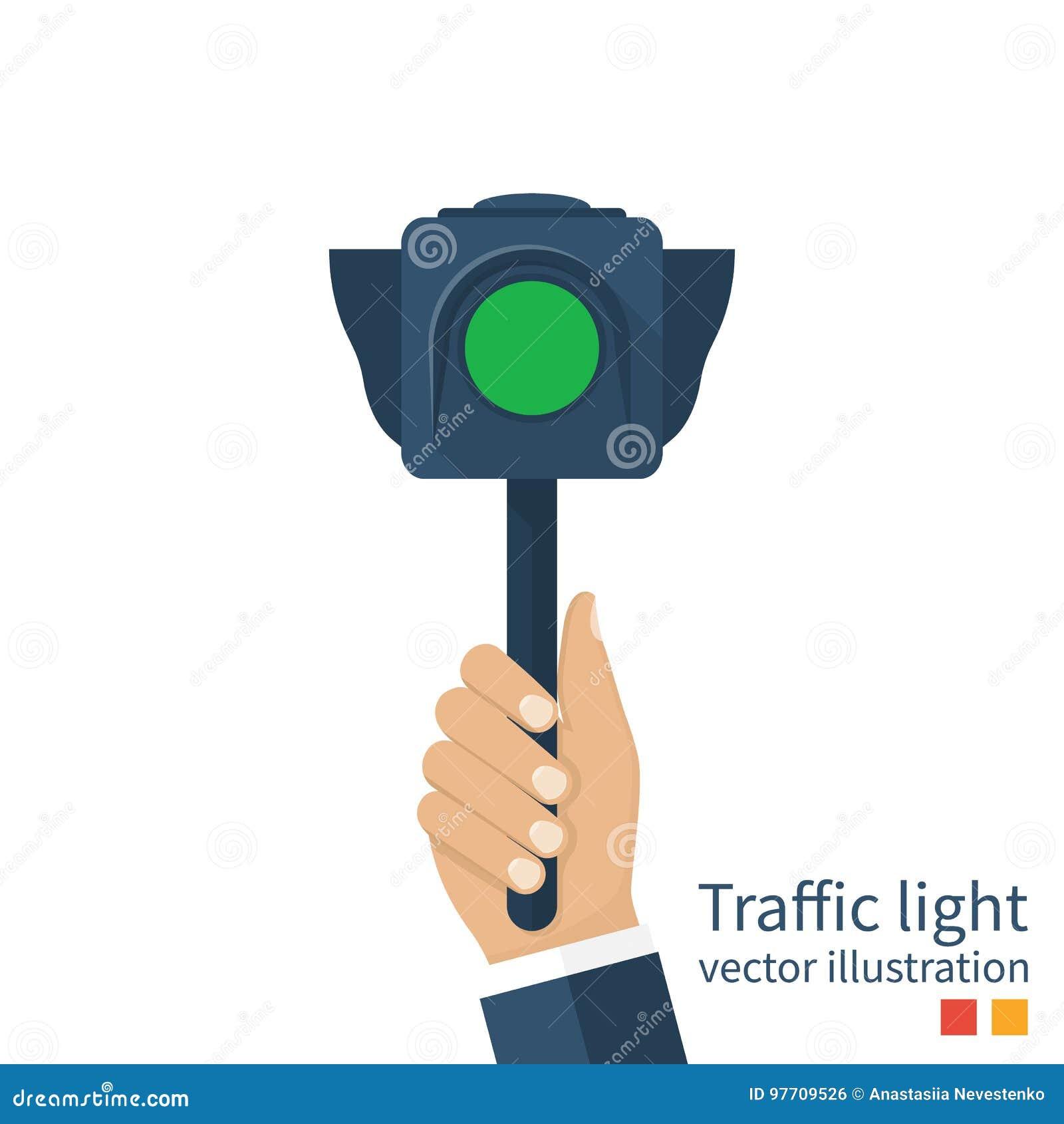 Vecteur de feu de signalisation