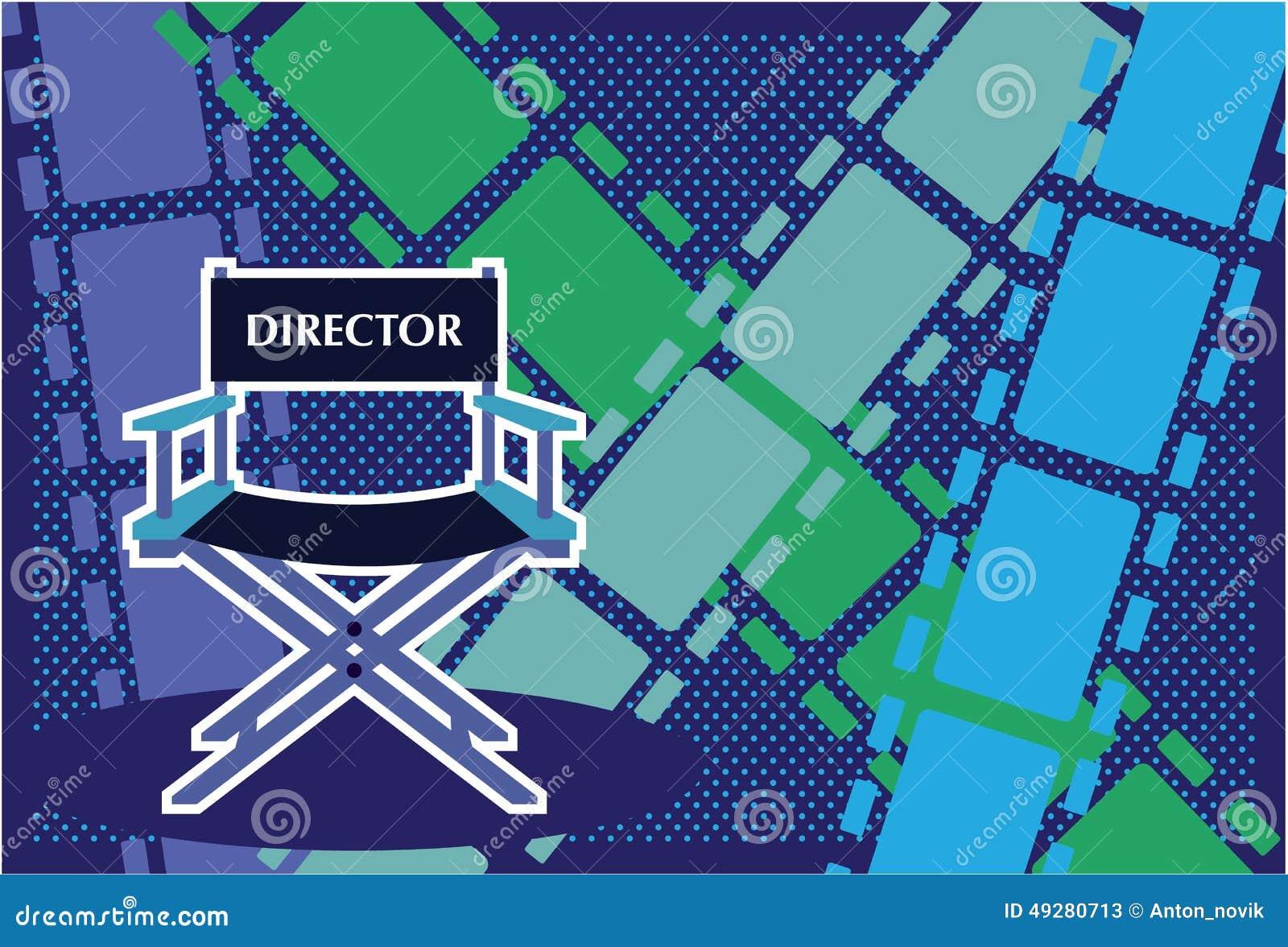 Download Vecteur De Film Chaise Directeurs Illustration