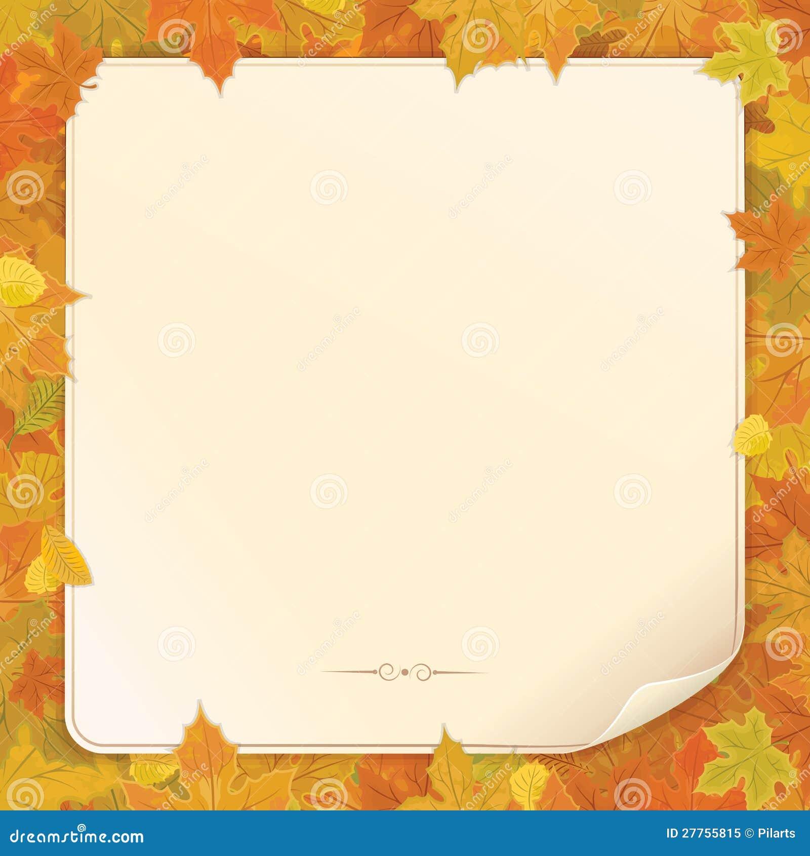 Vecteur de fond d automne