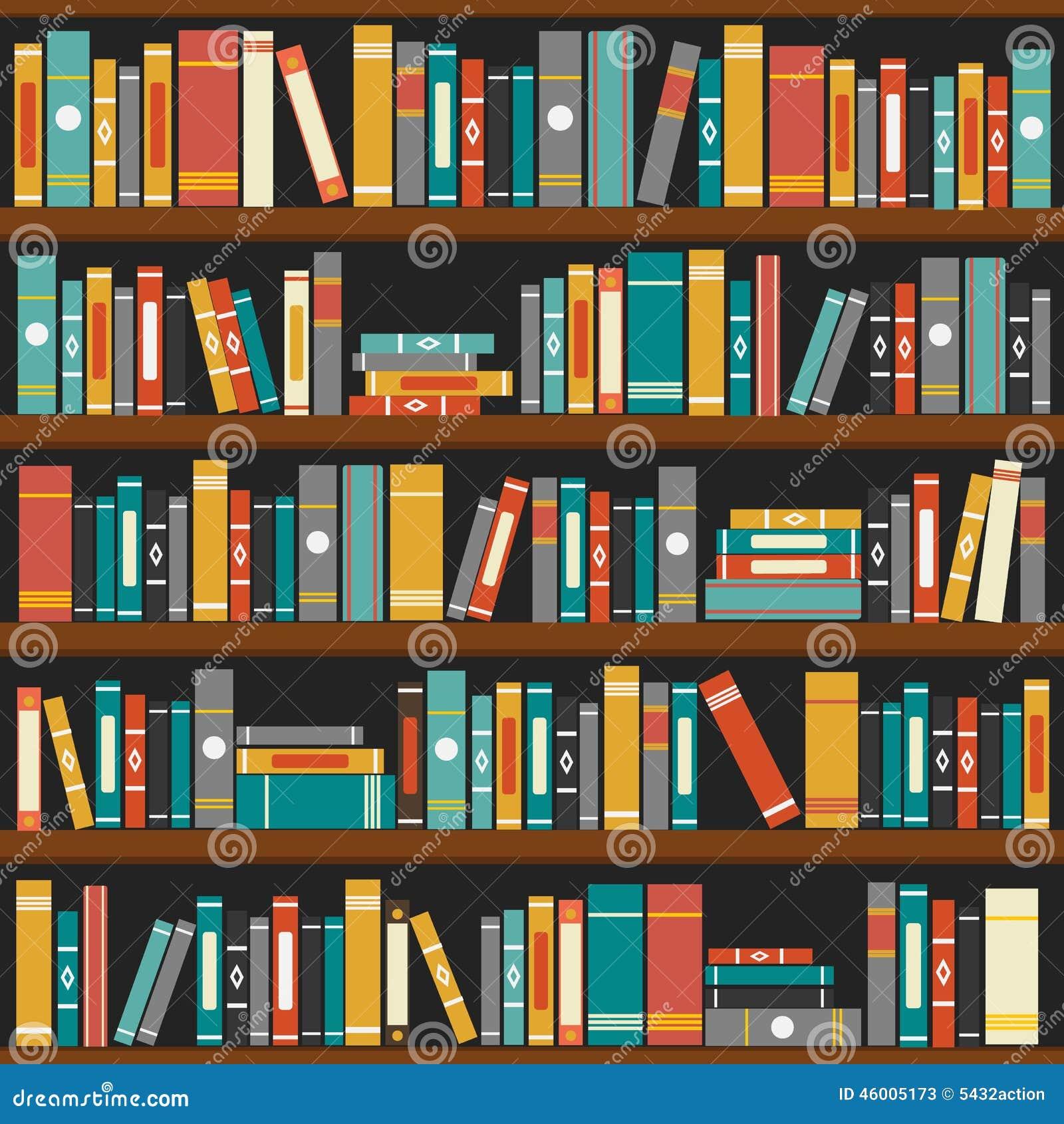 vecteur de fond d 39 tag res livres de biblioth que illustration de vecteur image 46005173. Black Bedroom Furniture Sets. Home Design Ideas