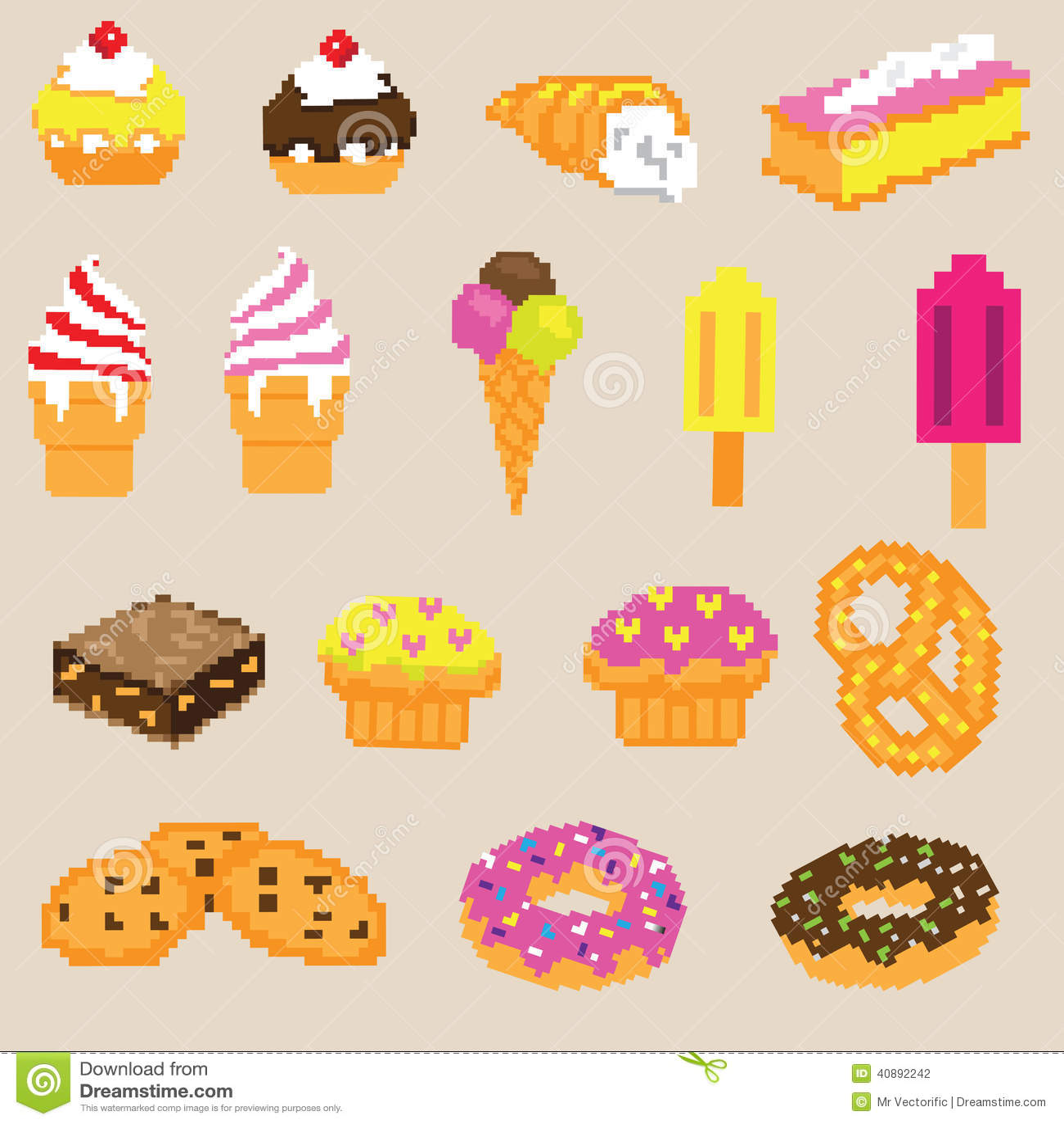 Pixel Art Gâteau Licorne