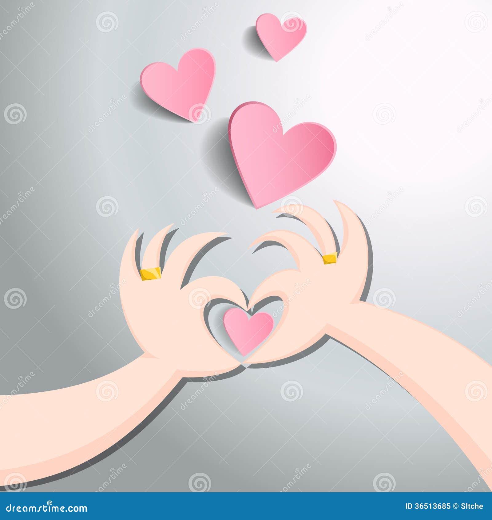 Vecteur de geste de coeur de main
