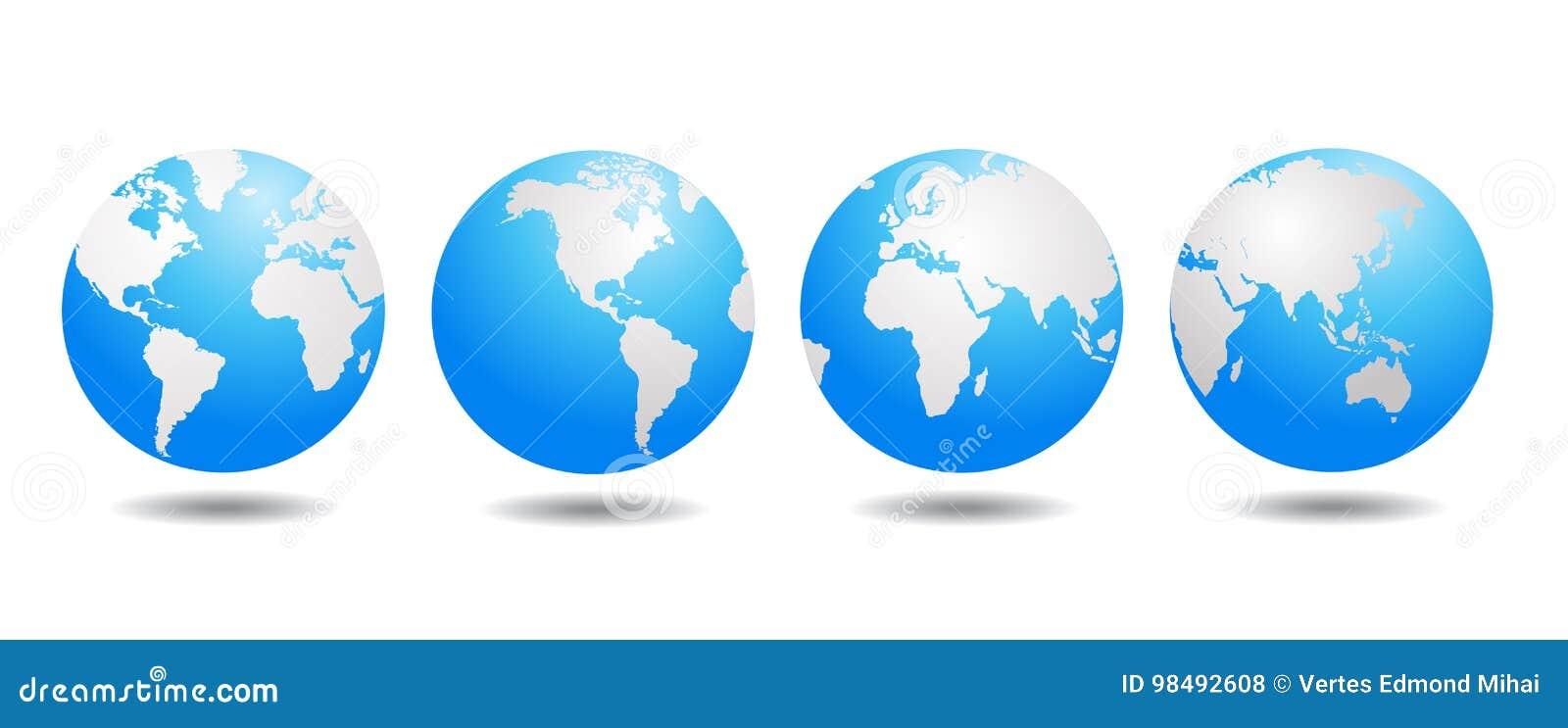 Vecteur de globe du monde
