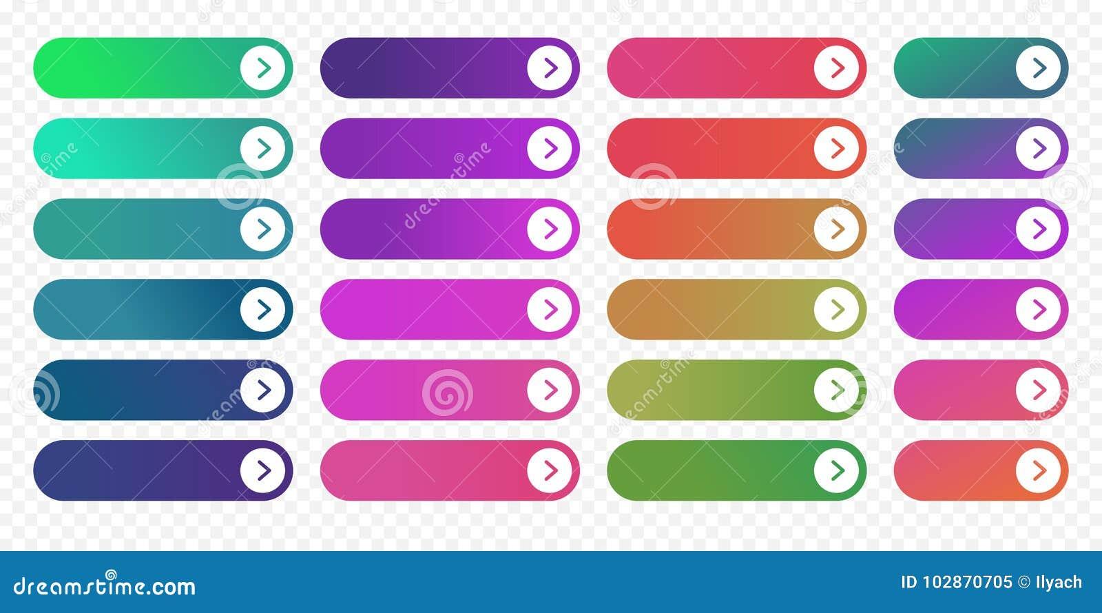 Vecteur de gradient de couleur d icône de flèche de calibre plat de conception de bouton de Web prochain