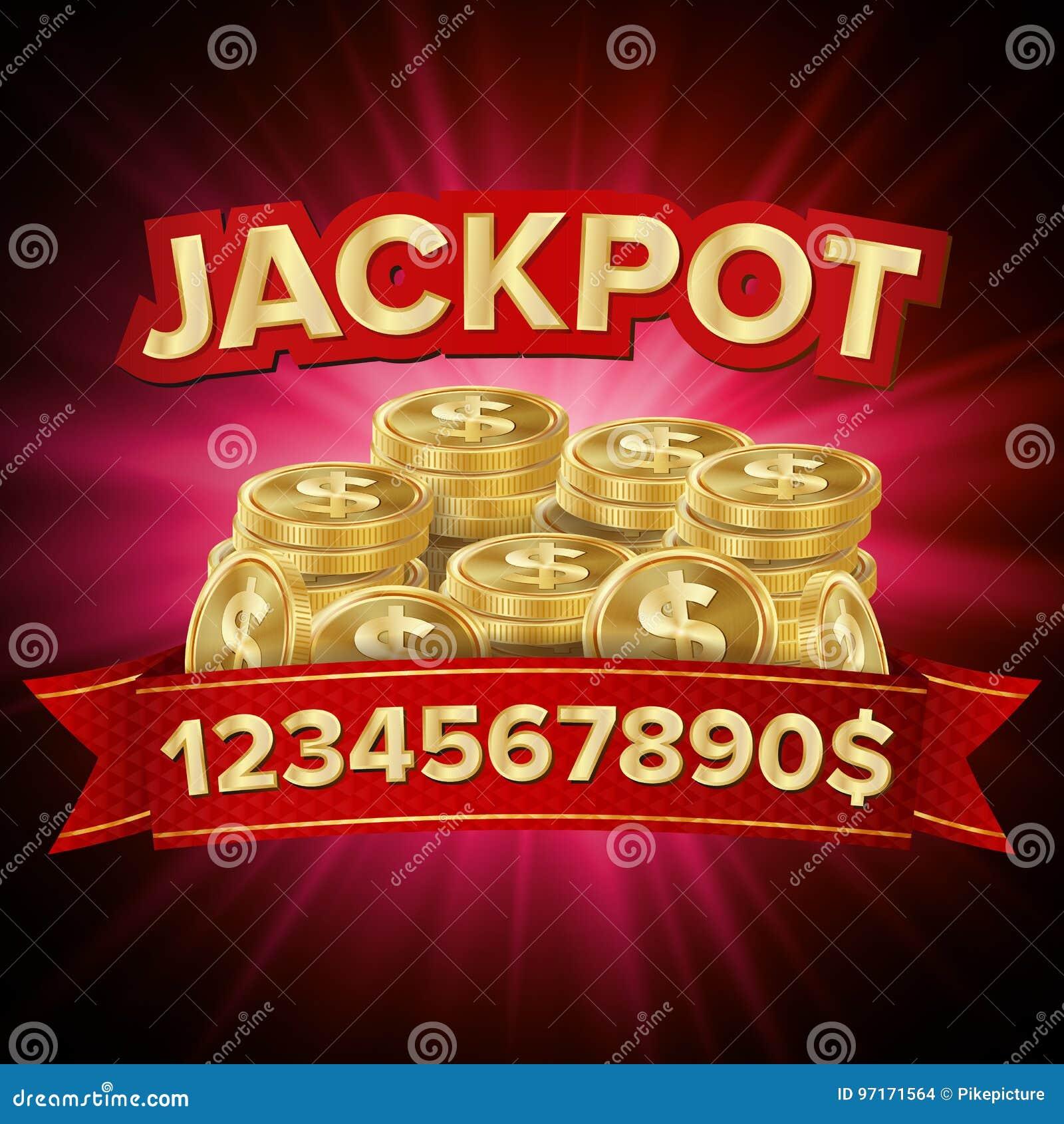 Vecteur de gros lot Fond de casino pour la chance, argent, gros lot, jeu, illustration de loterie