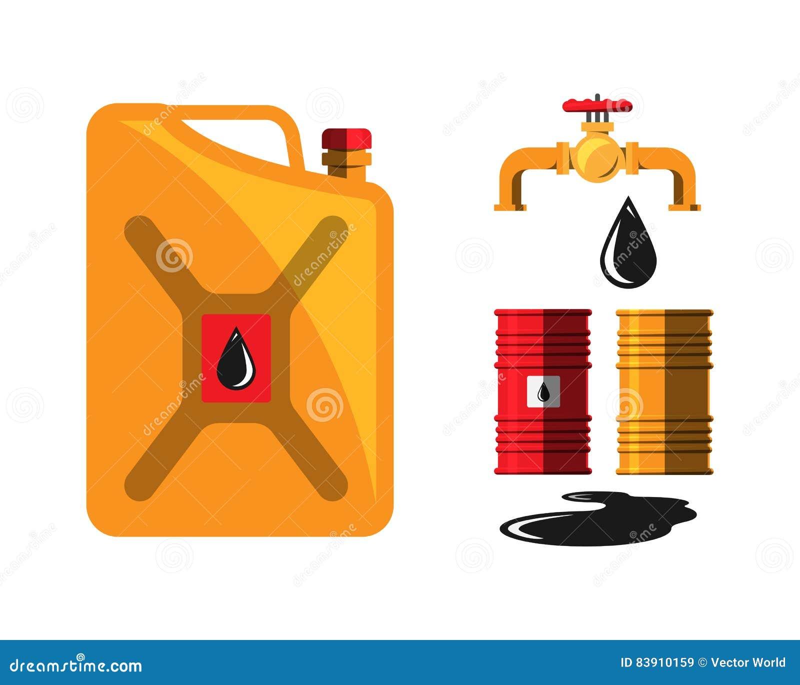 Vecteur de grue de capacité de tonneau à huile