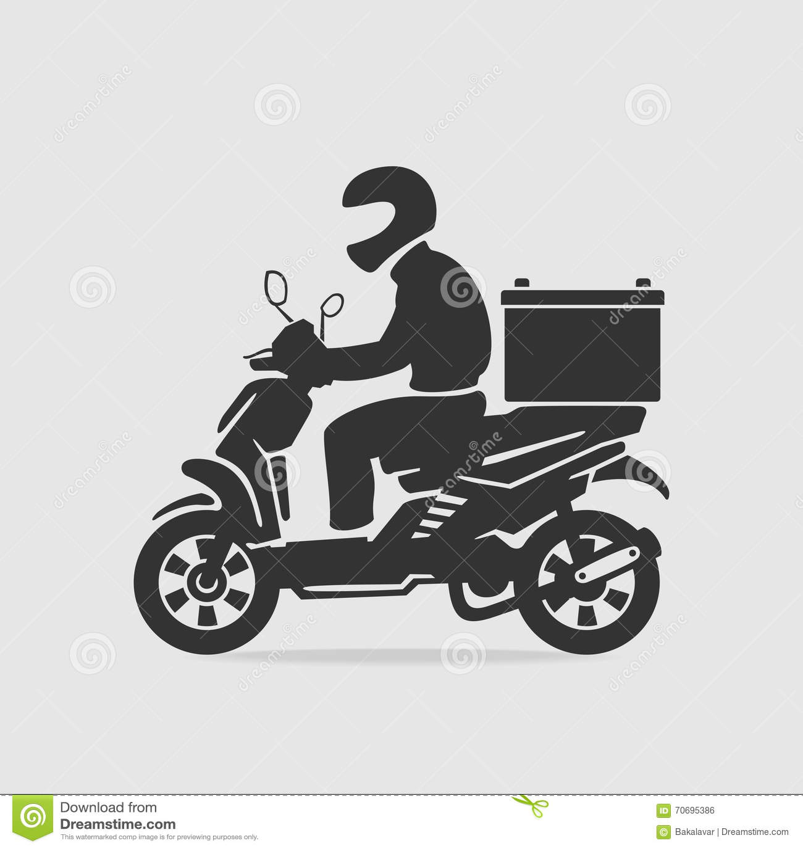 Vecteur de la livraison de nourriture de vélo
