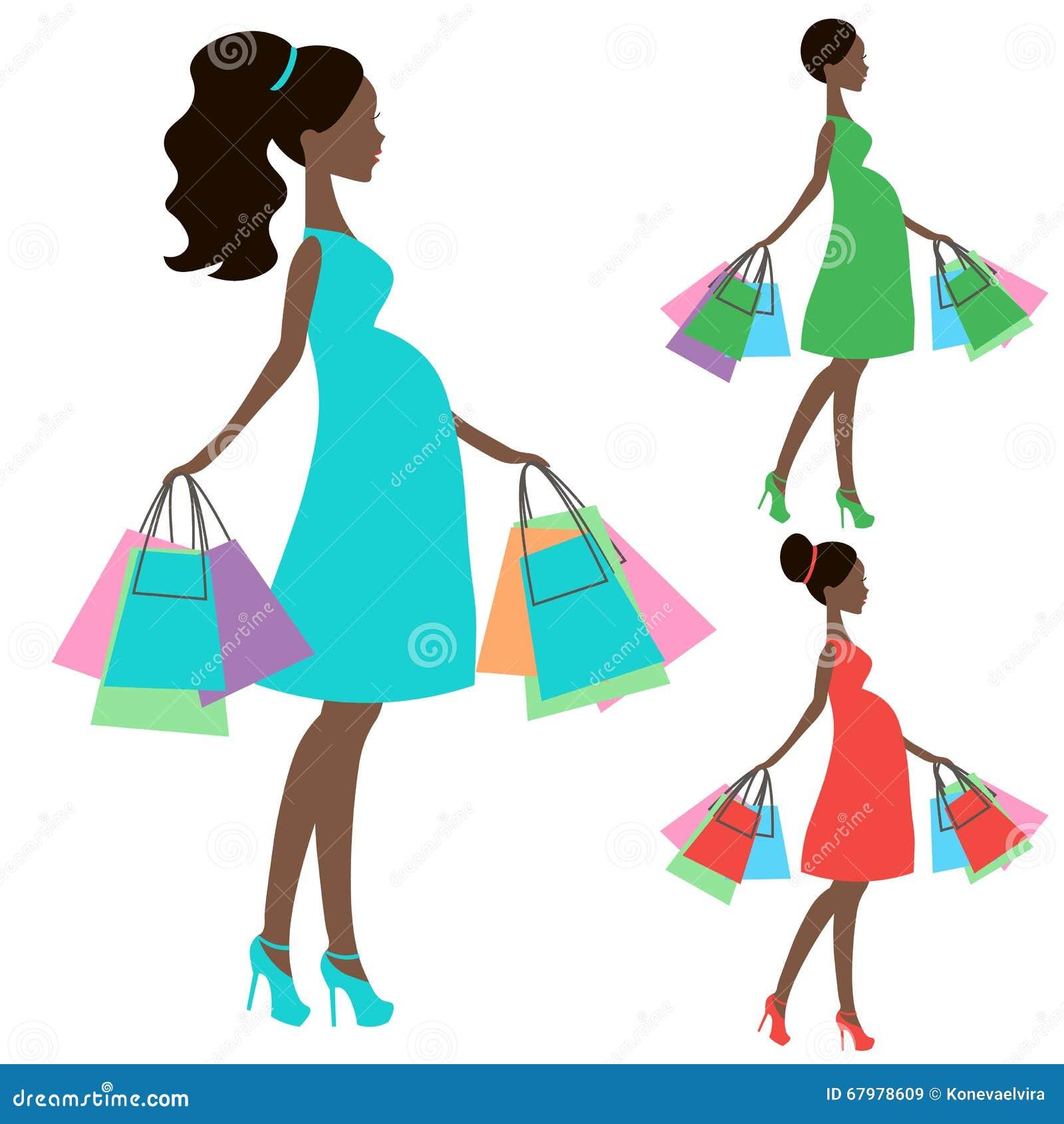 vecteur de la maman enceinte moderne e magasin en ligne logo silhouette ic ne de vente sur. Black Bedroom Furniture Sets. Home Design Ideas