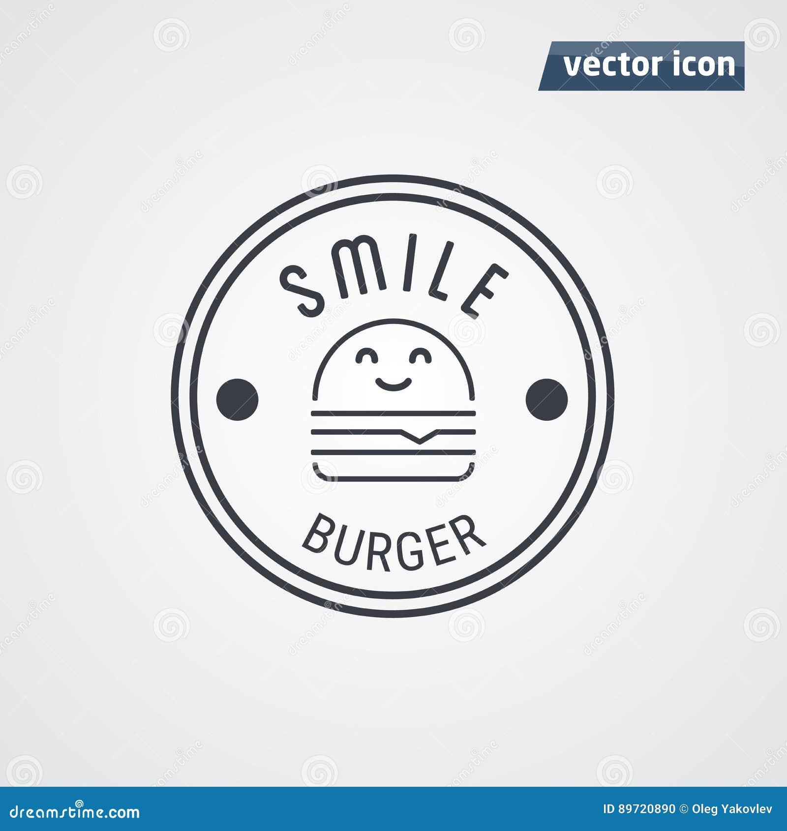 Vecteur de logo d hamburger