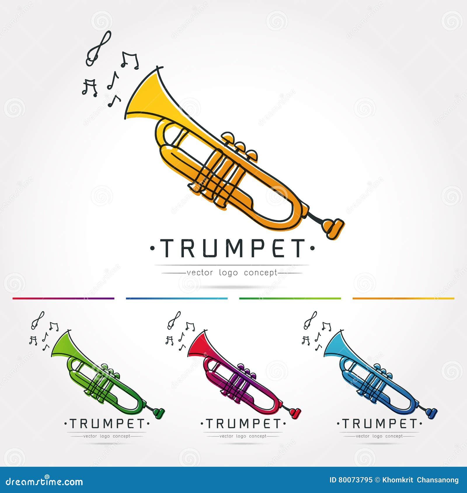 Vecteur de logo de trompette