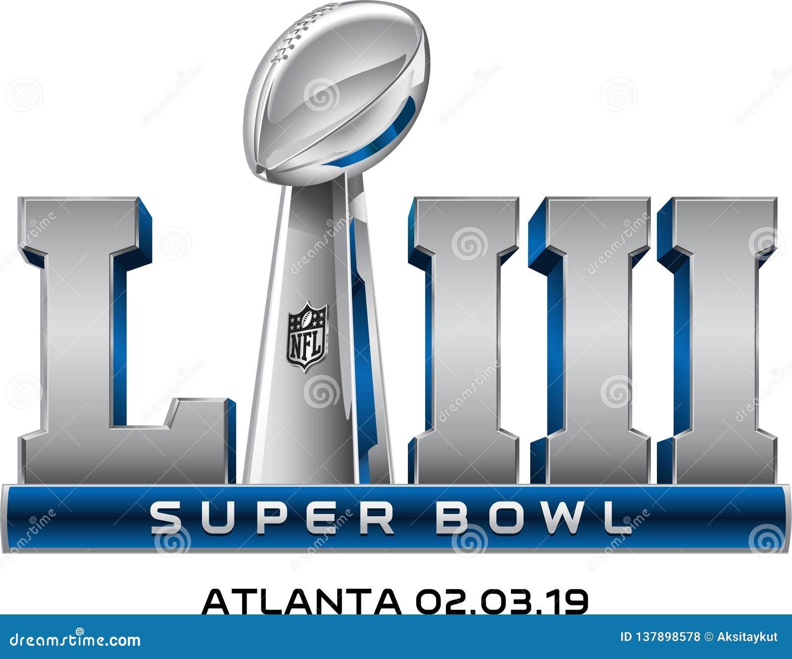 Vecteur de logo du superbowl LIII