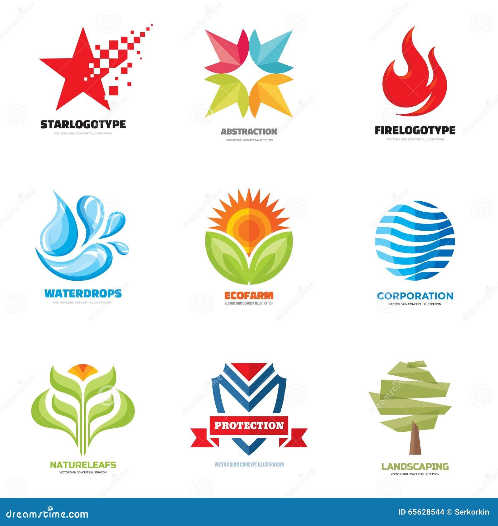 Vecteur de logo réglé - illustrations créatives Logo Collection Conception de logo de vecteur Calibre de logo de vecteur Éléments