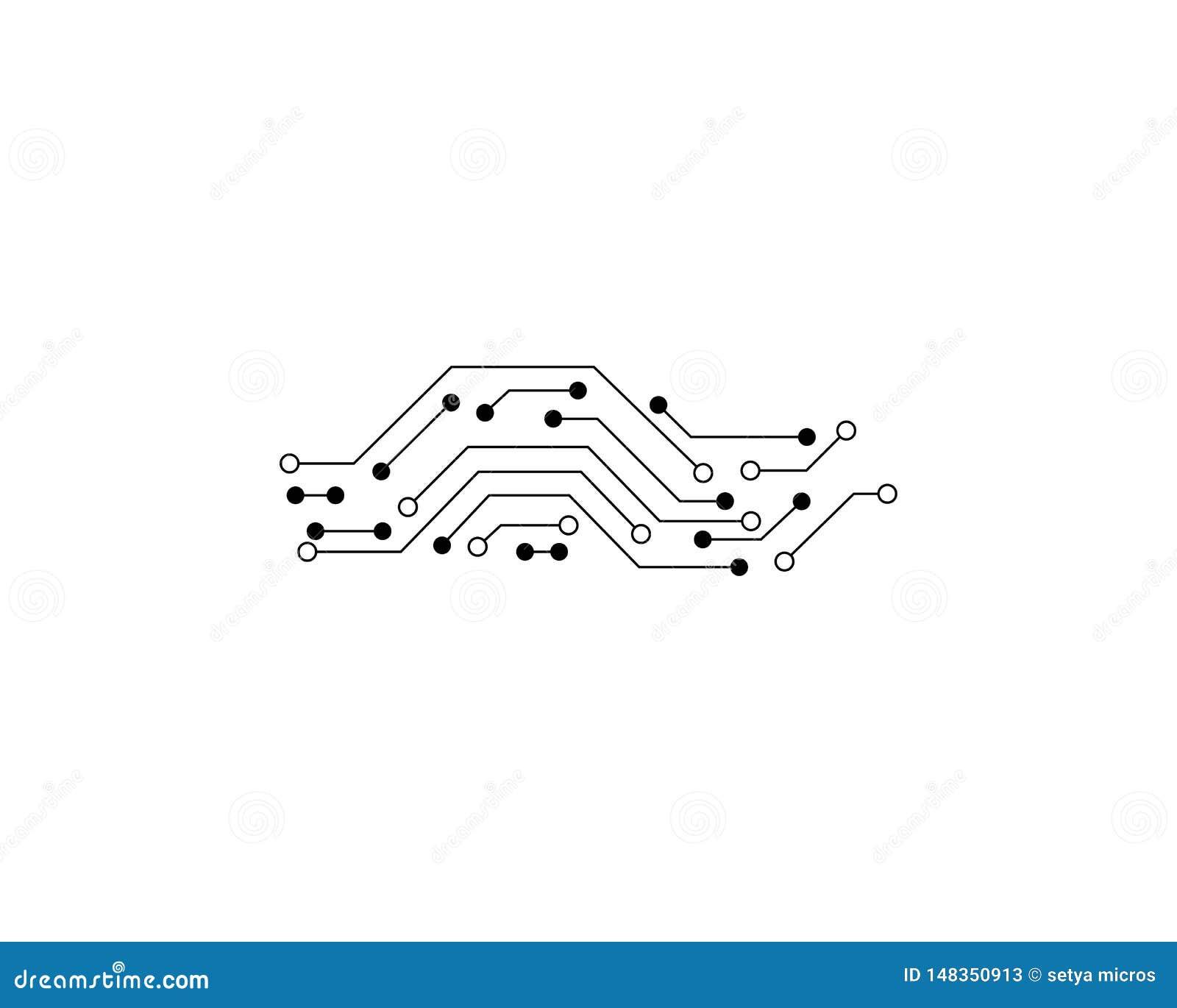 Vecteur de Logo Template de circuit