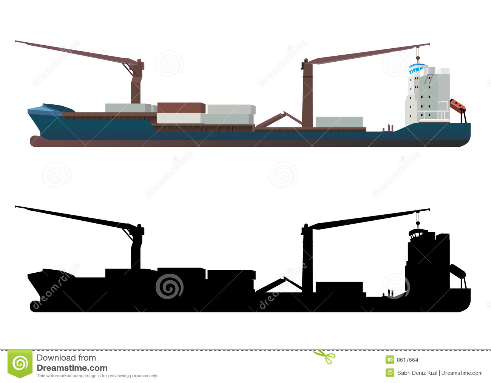 Vecteur de navire porte conteneurs images stock image for Porte conteneur
