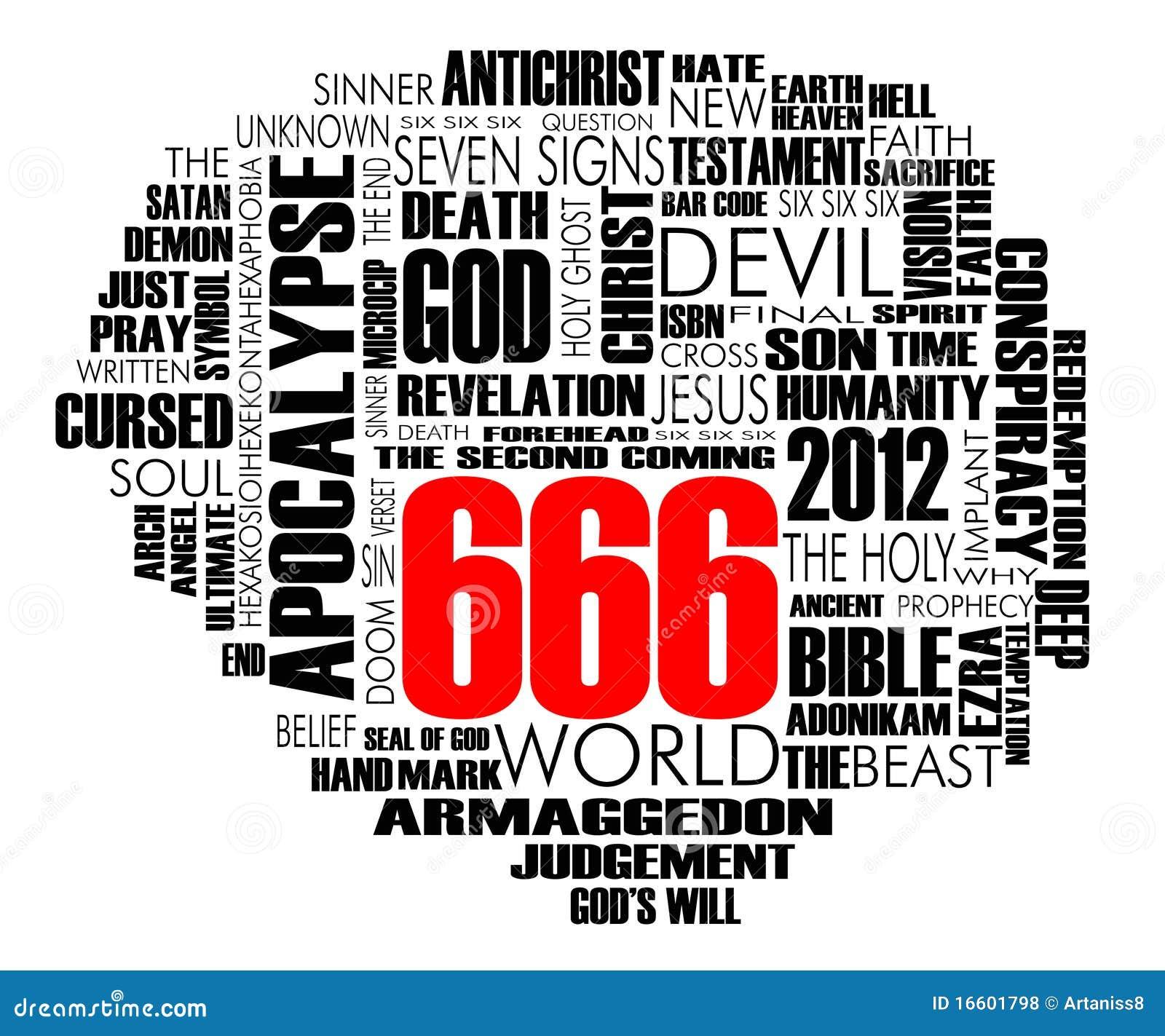 Vecteur de nuage de 666 mots