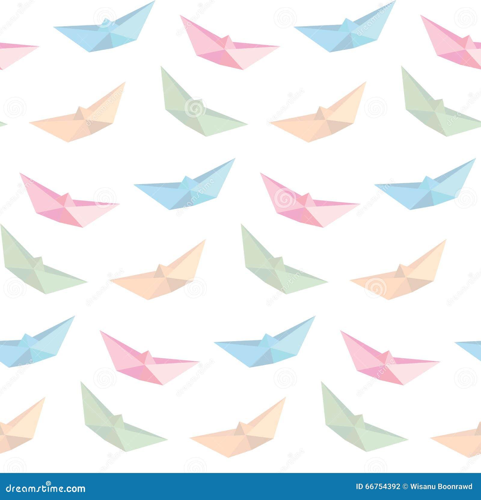 vecteur de papier se pliant de bateau origami fond sans couture illustration stock image. Black Bedroom Furniture Sets. Home Design Ideas