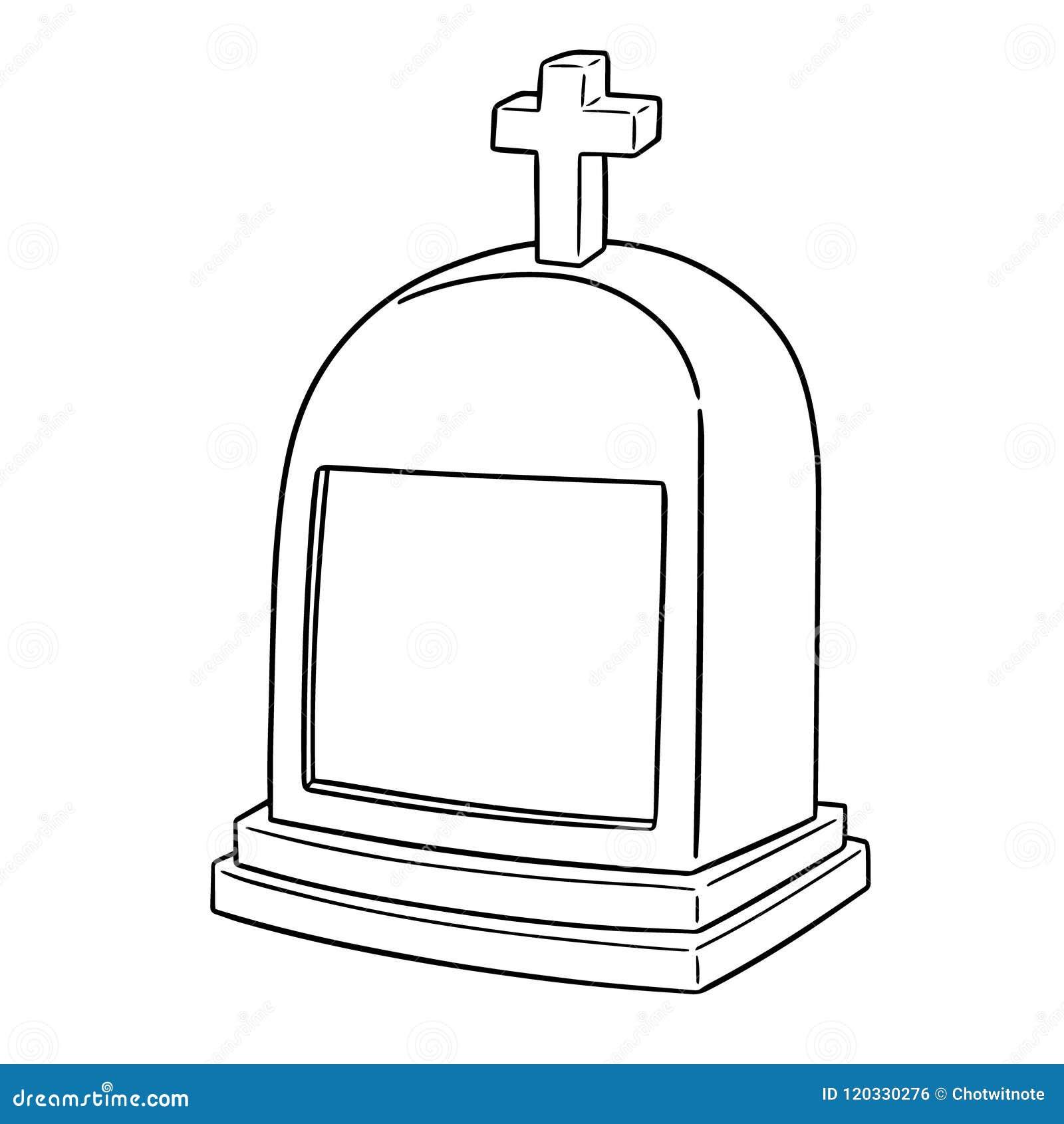 Vecteur de pierre tombale