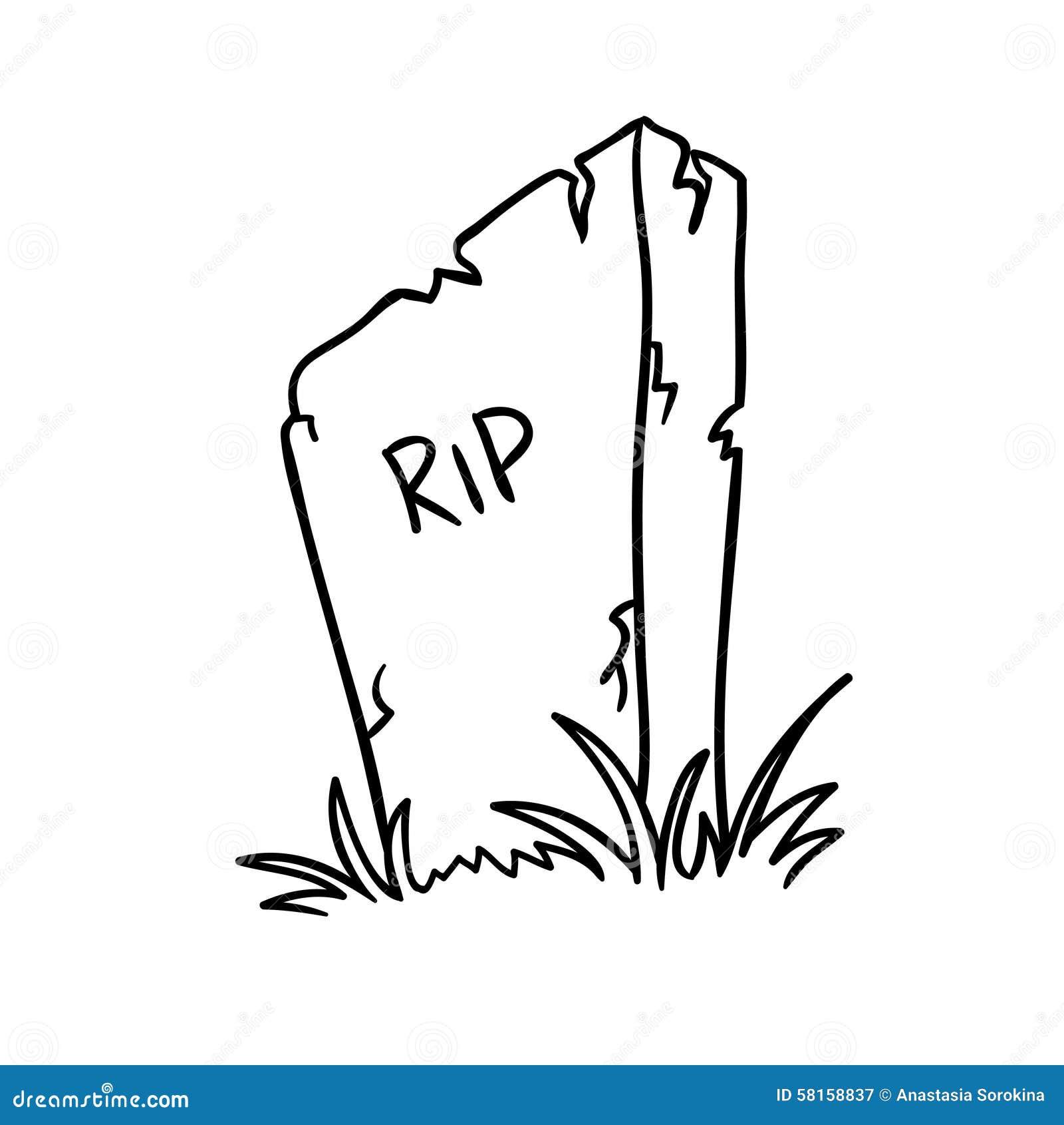 Vecteur de pierre tombale illustration de vecteur illustration du griffonnage 58158837 - Pierre tombale dessin ...