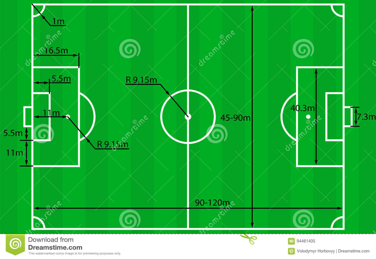 vecteur de plan de terrain de football illustration de vecteur illustration du football. Black Bedroom Furniture Sets. Home Design Ideas
