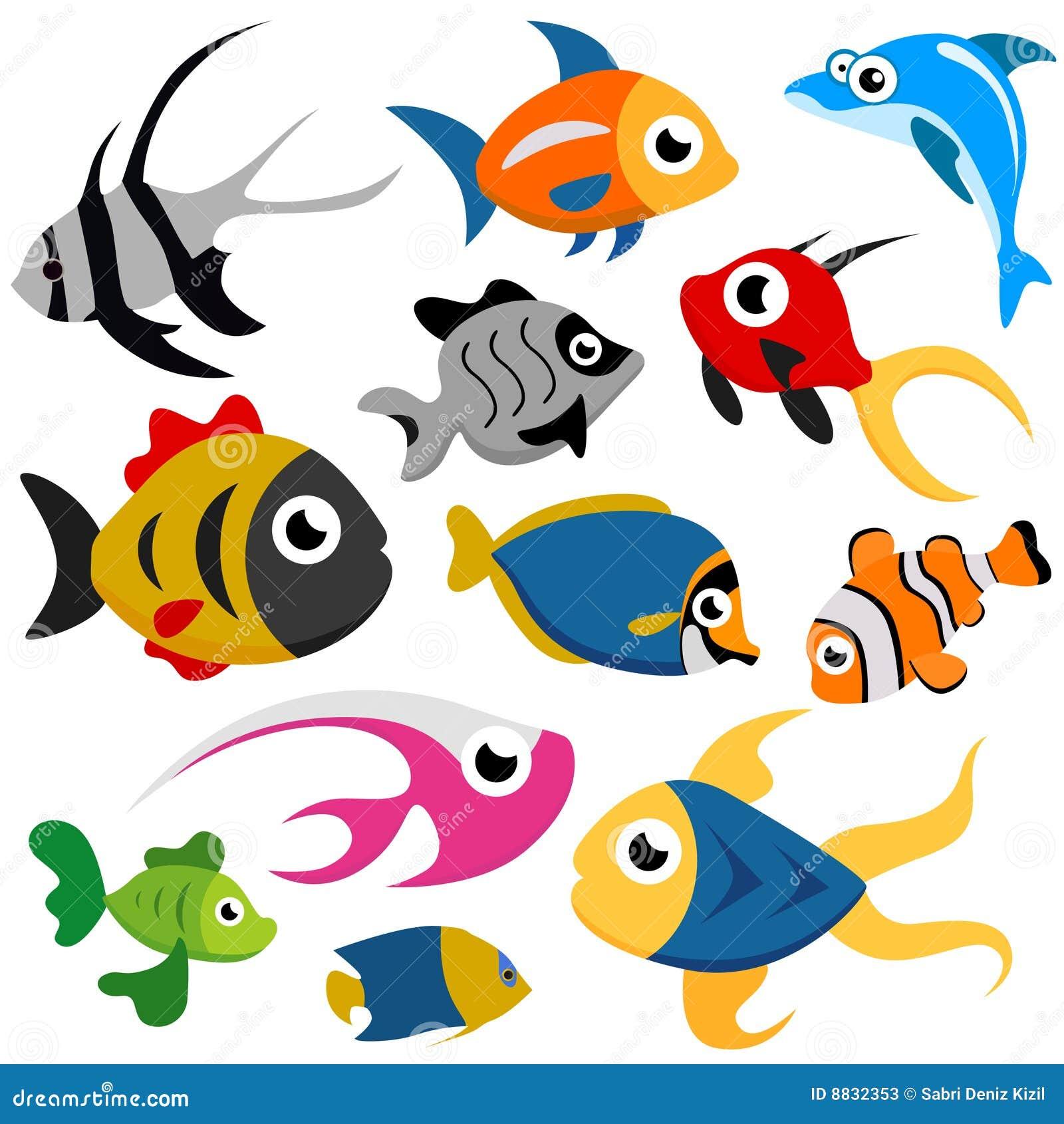 Vecteur de poissons de dessin anim illustration de vecteur illustration du poissons seaside - Poisson dessin couleur ...