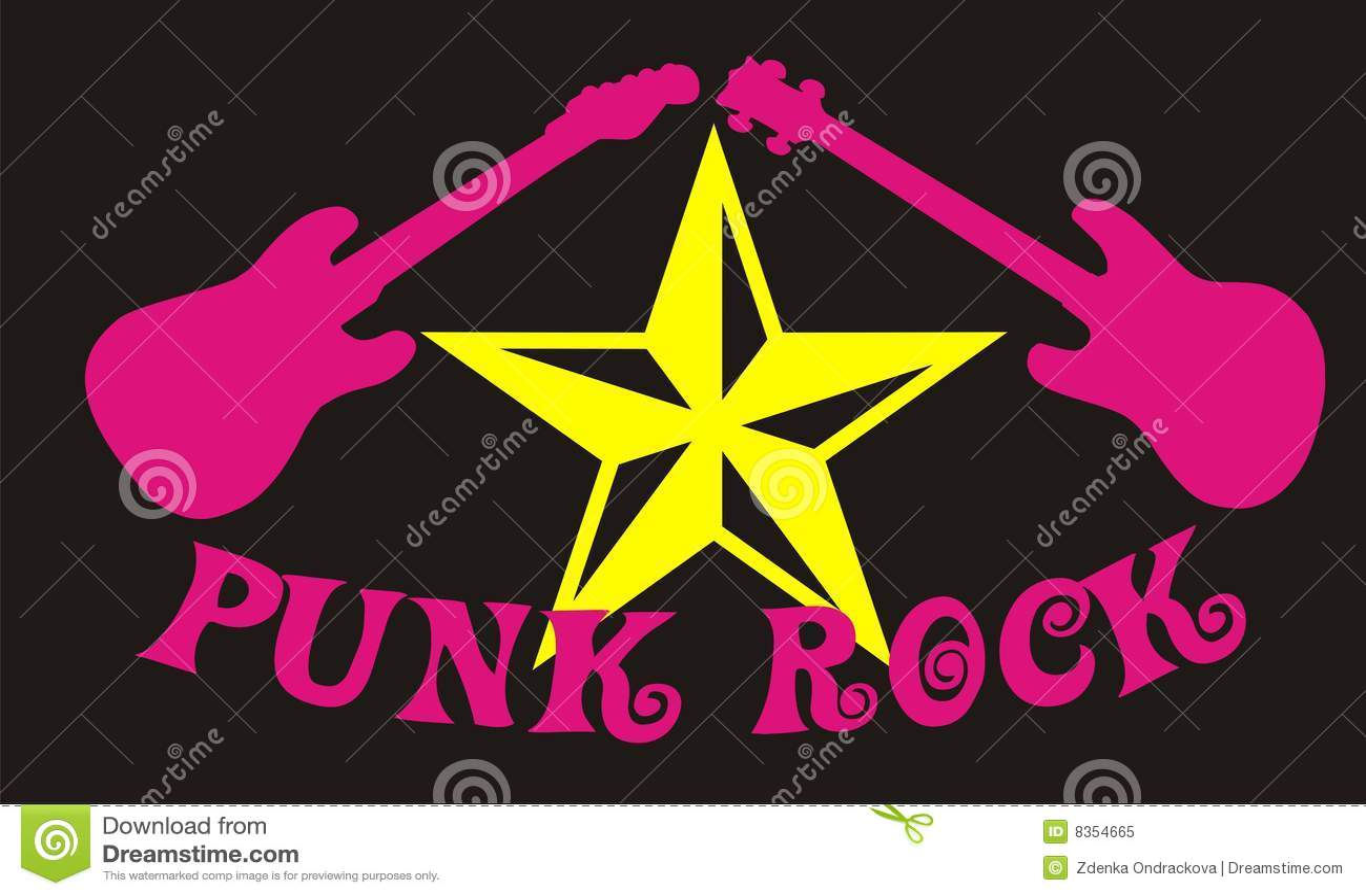 Vecteur de roche punke
