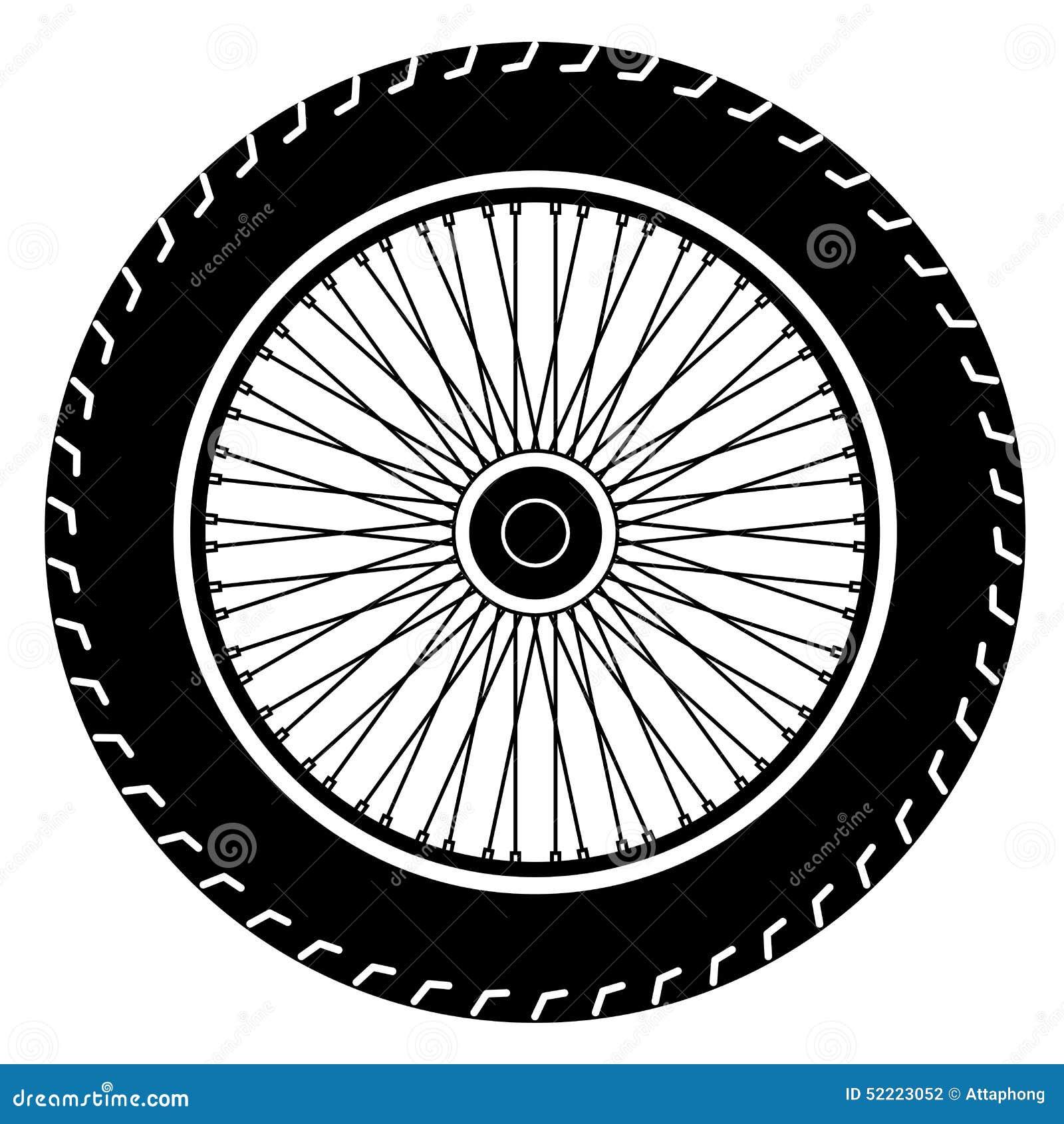 Vecteur De Roue Moto Illustration Image
