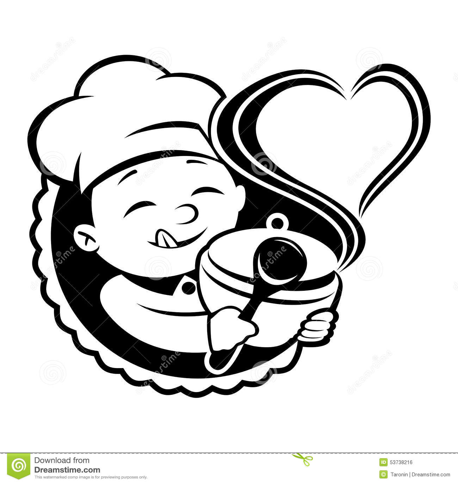 Vecteur de signe cuisinier