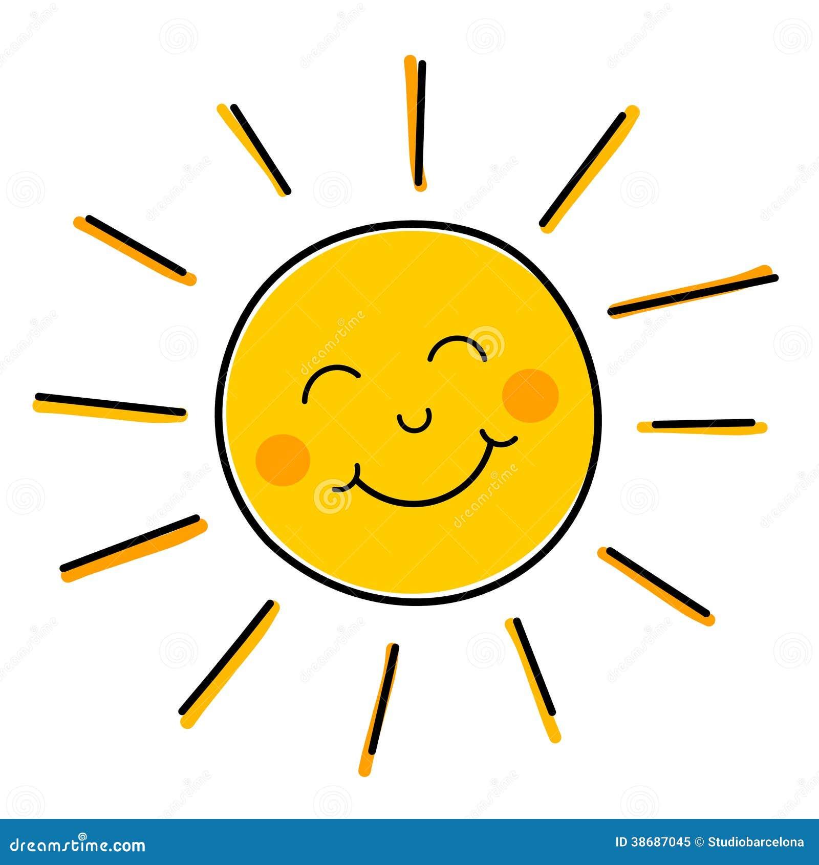 Vecteur de sourire du soleil illustration stock - Dessin du soleil ...