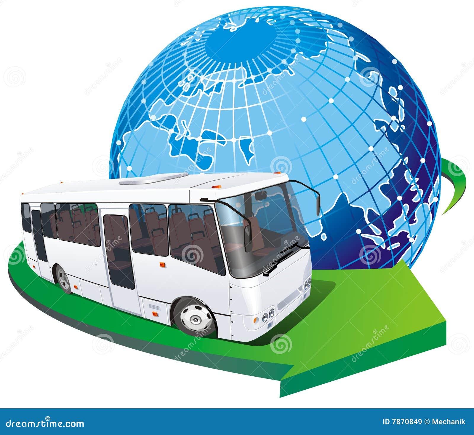 Vecteur de touriste de bus