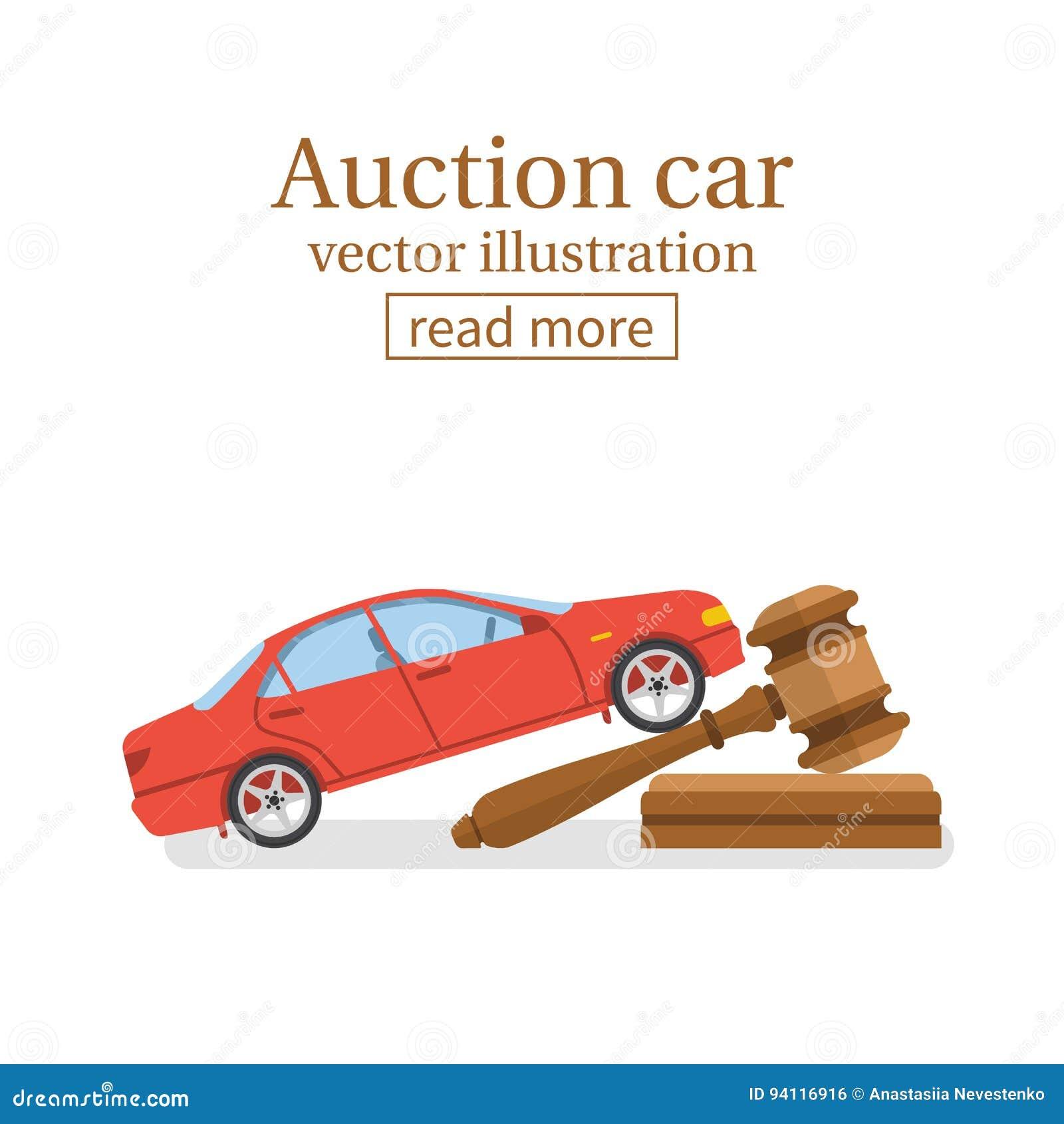 vecteur de voiture de vente aux ench res illustration de vecteur illustration du permissible. Black Bedroom Furniture Sets. Home Design Ideas