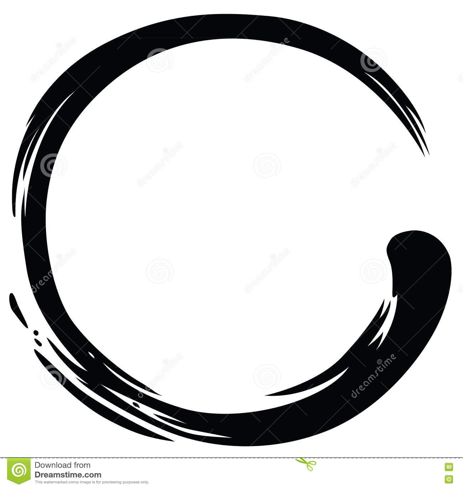 Vecteur de Zen Circle Paint Brush Stroke
